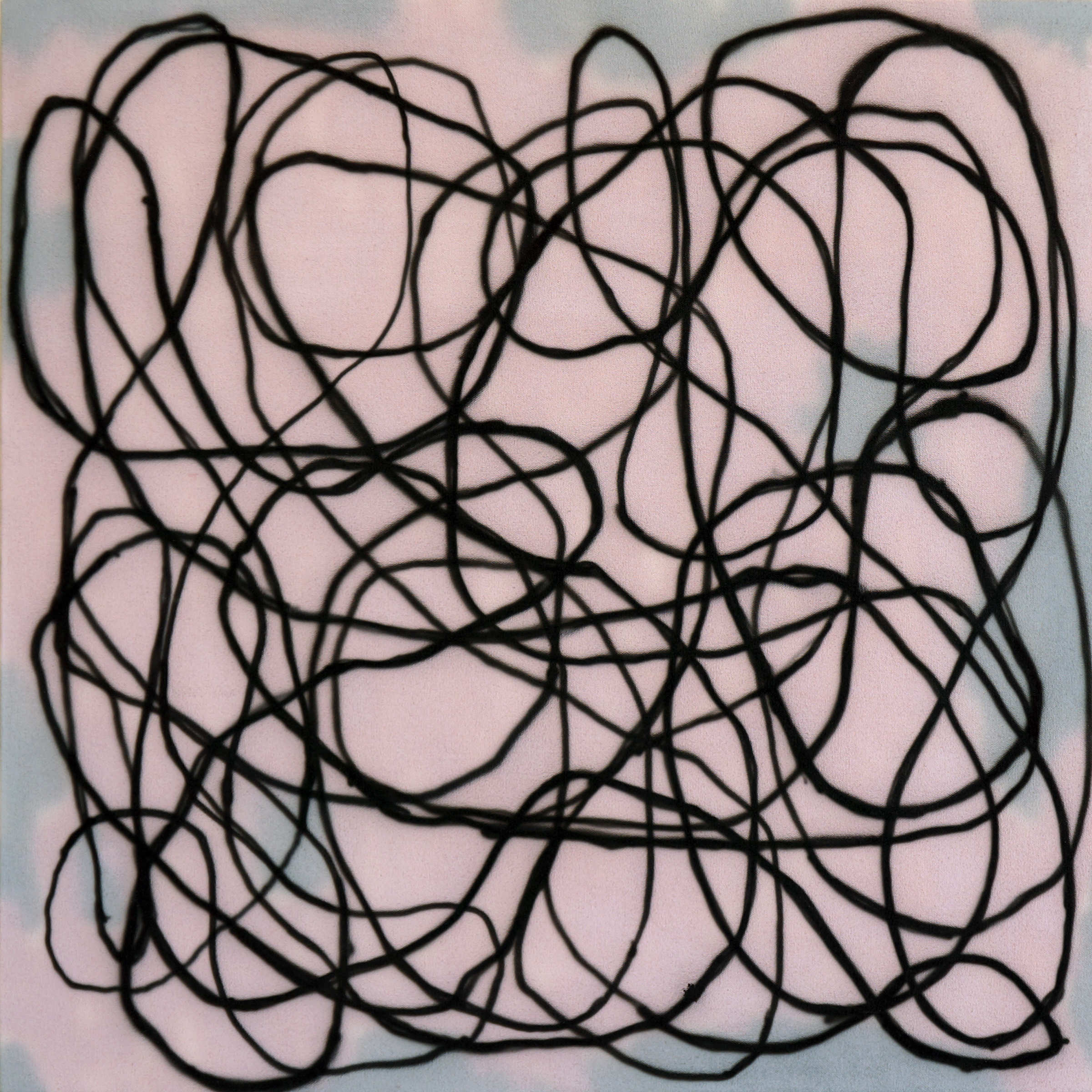 "DANIEL TIERNEY   Pink and Grey, 2012, acrylic on canvas, 24"" x 24"""