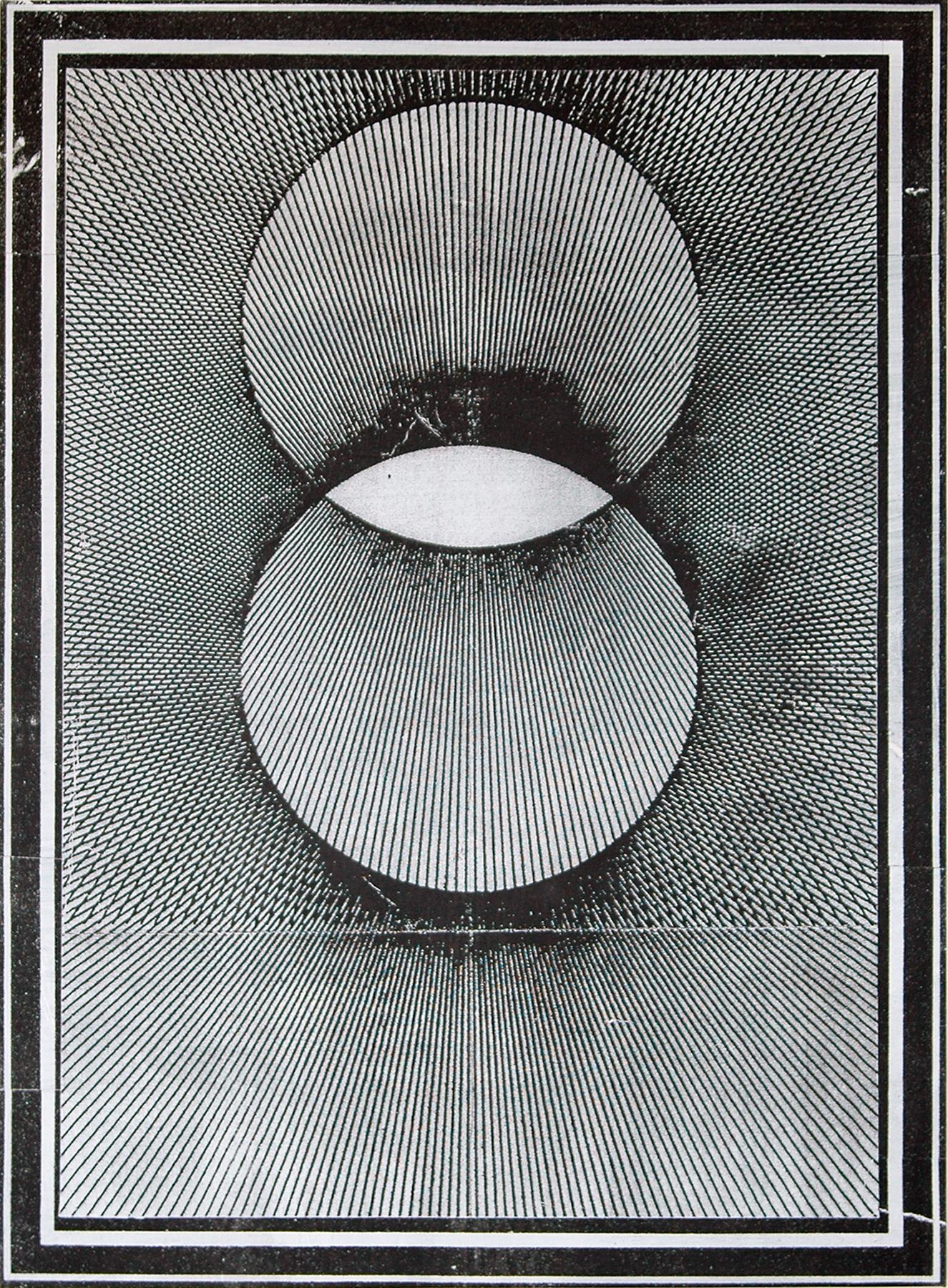 "GWENAËL RATTKE   Projections II (black & white) , 2012, acrylic silkscreen on canvas with hand working, 49"" x 35.5"""