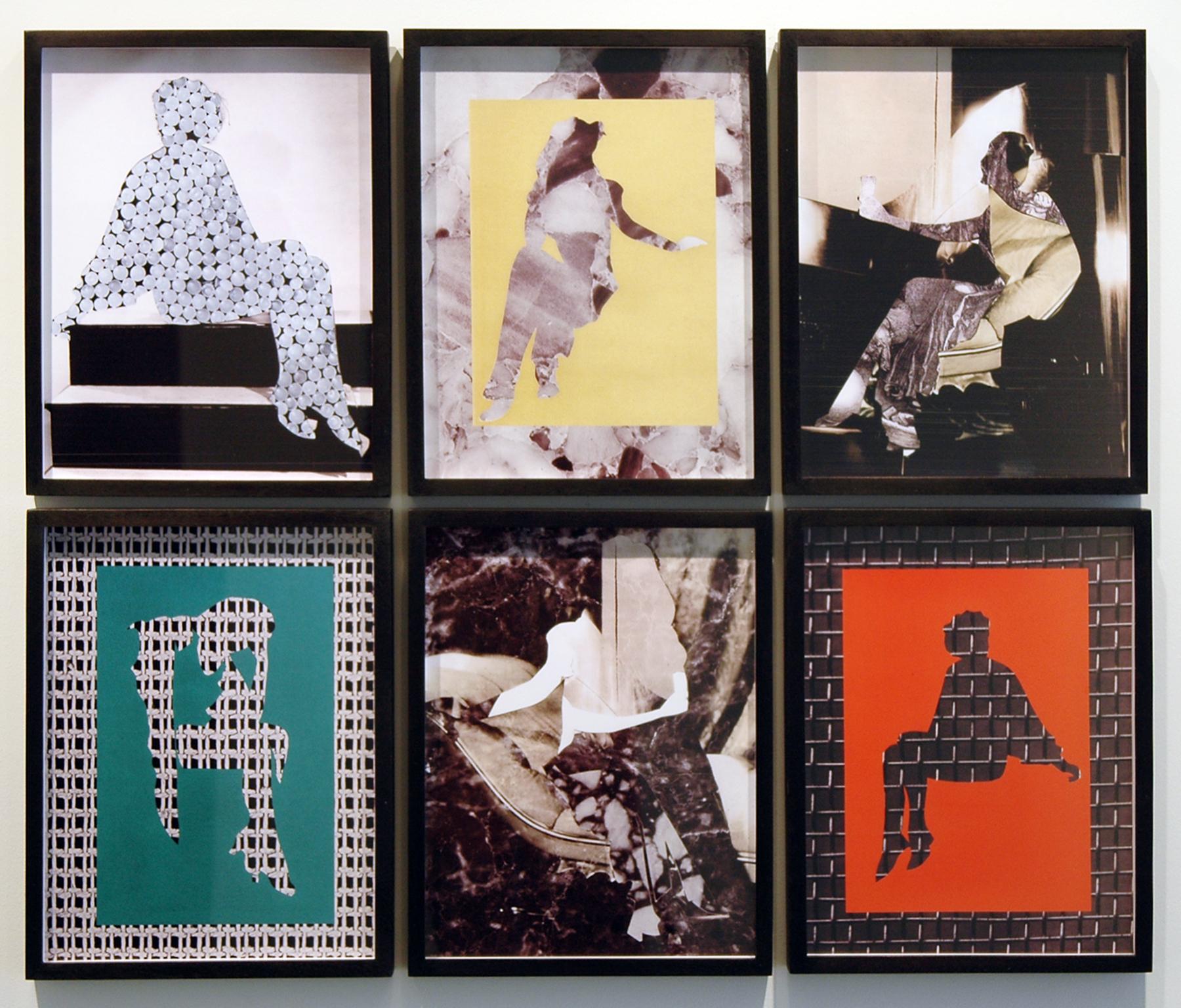 "DERIC CARNER   Ida Poses #1-6 (L to R, top row & bottom row) ,digital c-prints, framed, 1 + 1AP, 14"" x 11"" (each), 2012"