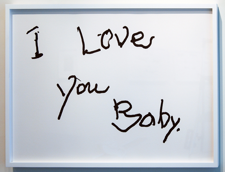 """SUSAN O'MALLEY   I LOVE YOU BABY (3) , 2012, digital print on archival rag, edition of 1/1 with AP, 24"""" x 36"""""""