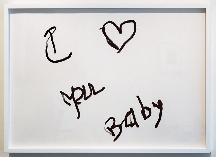 """SUSAN O'MALLEY   I LOVE YOU BABY (2) , 2012, digital print on archival rag, edition of 1/1 with AP, 24"""" x 36"""""""