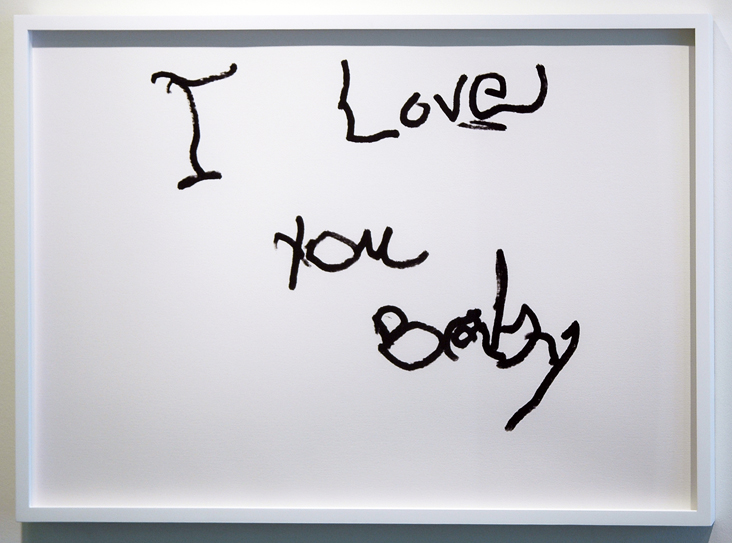 """SUSAN O'MALLEY   I LOVE YOU BABY (1) , 2012, digital print on archival rag, edition of 1/1 with AP, 24"""" x 36"""""""