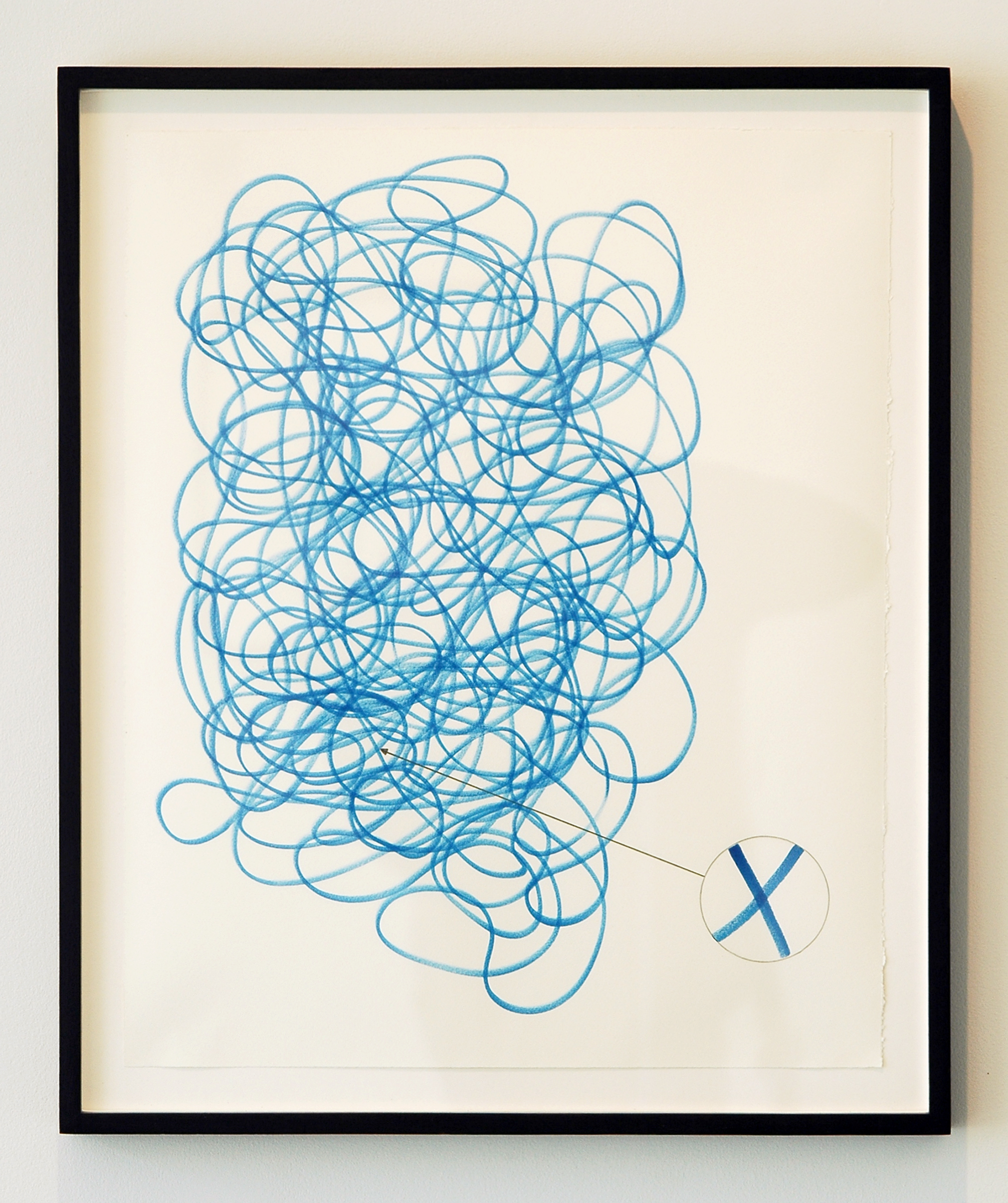"""JOSHUA PIEPER   New Drawing with Detail , ink and pencil on paper with frame, 24.75"""" x 20.75"""", 2012"""