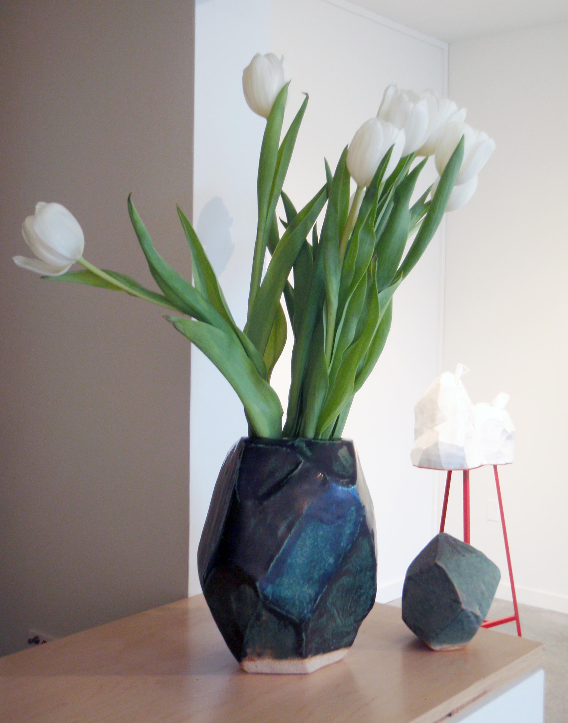 ANNA SEW HOY   verte/noir  (left) and  verte/lichen (right), installation