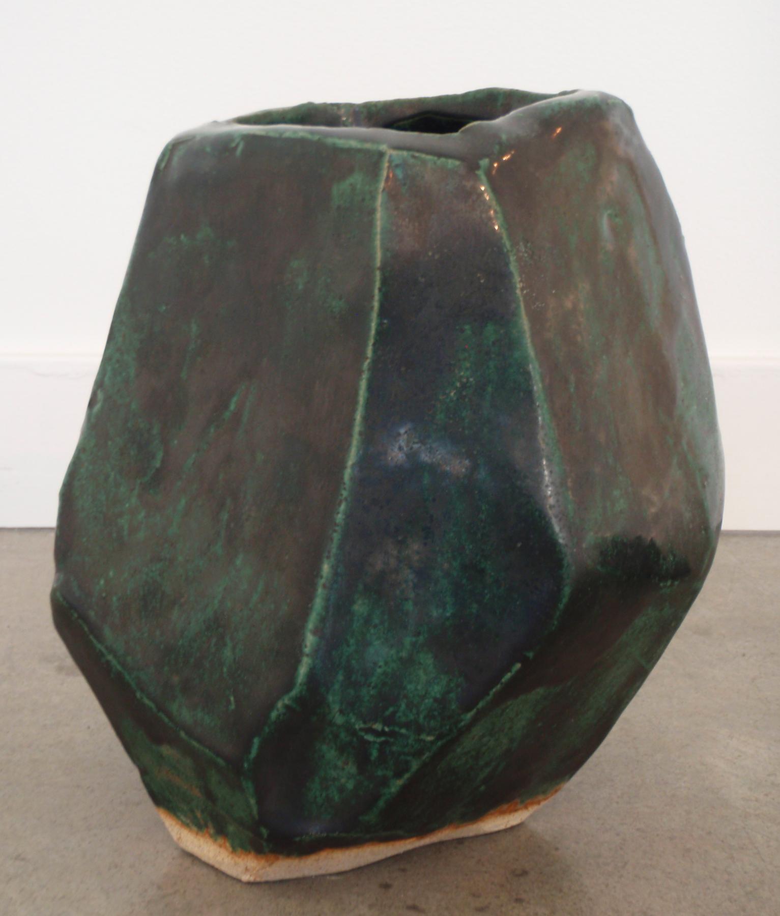"""ANNA SEW HOY   verte/noir , fired stoneware, 8"""" x 7.5"""" x 6.5"""", 2012"""