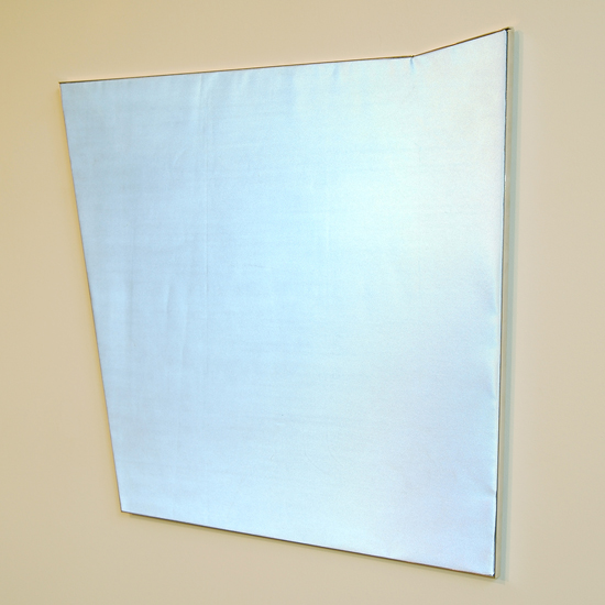 """LUCY PULLEN   Chromadynamics IV , fabric and aluminum, 22.5"""" x 24"""", 2012"""