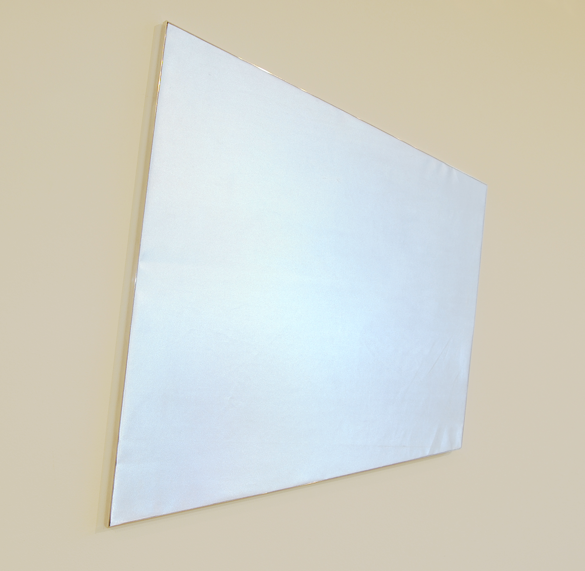 "LUCY PULLEN   Chromadynamics III , fabric and aluminum, 25"" x 24"", 2012"