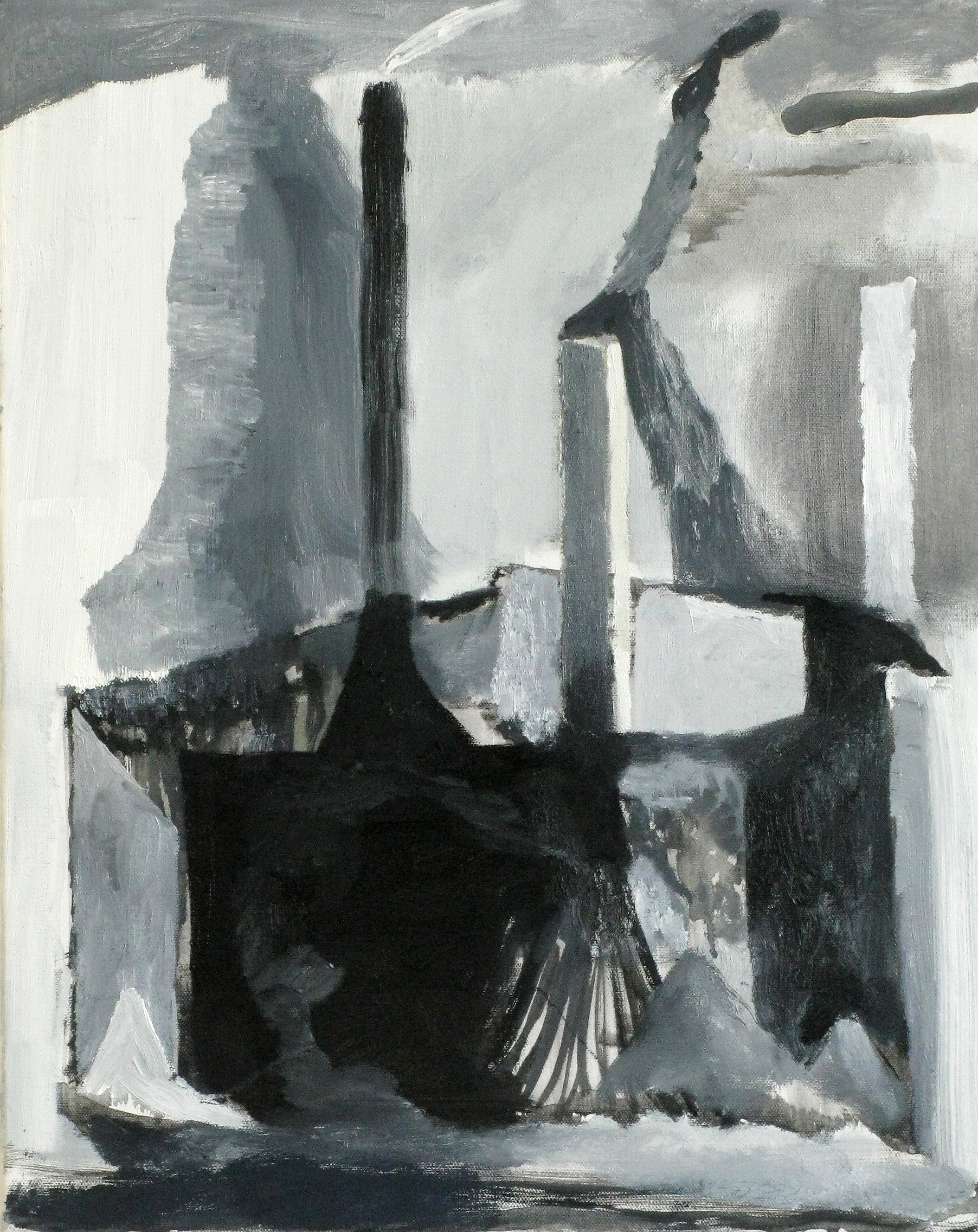 """CHRISTOPH ROßNER   Cloud Making Machine, oil and acrylic on canvas, 19.5"""" x 15.75"""", 2009"""