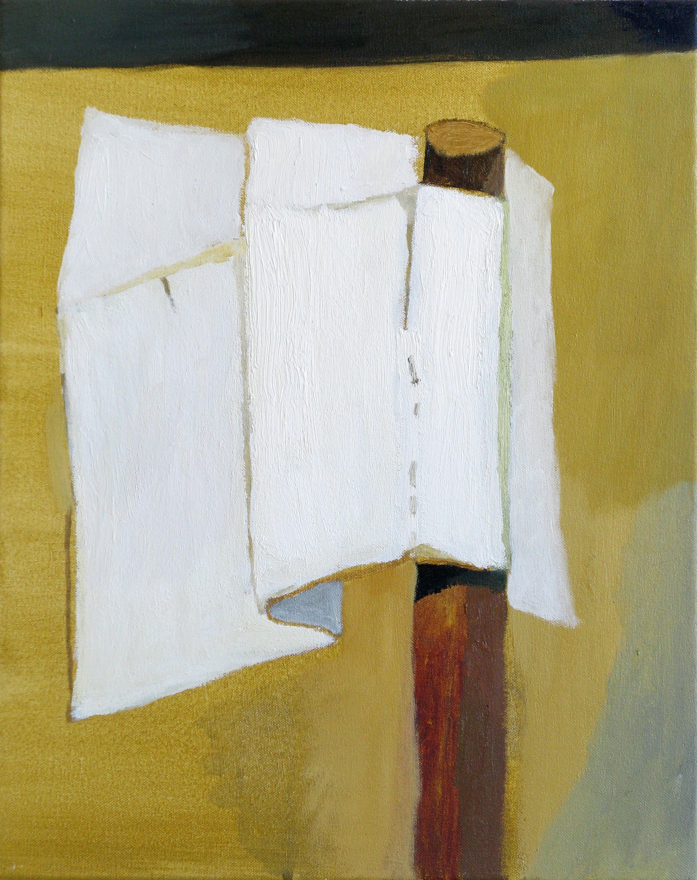 """CHRISTOPH ROßNER   Flag, oil and acrylic on canvas, 19.5"""" x 15.75"""", 2010"""