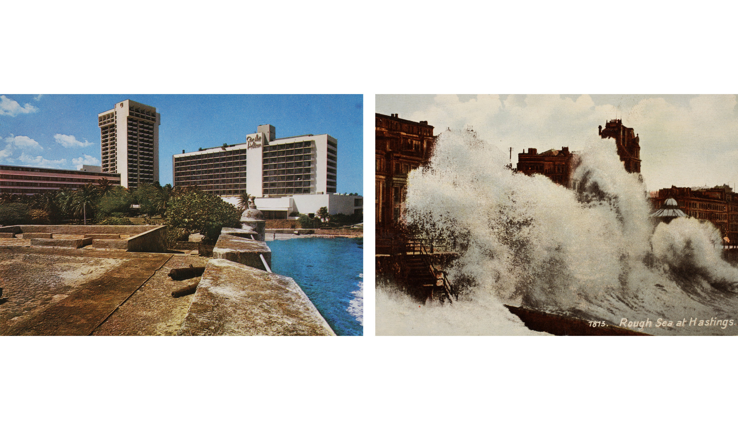 "PABLO GUARDIOLA   Sea is History. Giant Waves  [diptych], c-prints, 10"" x 15"" each, edition of 3 + 2AP, 2011"