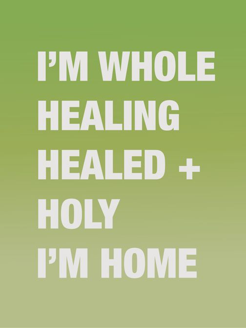 "SUSAN O'MALLEY   I'M WHOLE HEALING HEALED , 2012, digital print on archival rag, edition of 1/1 with AP, 40"" x 30"""