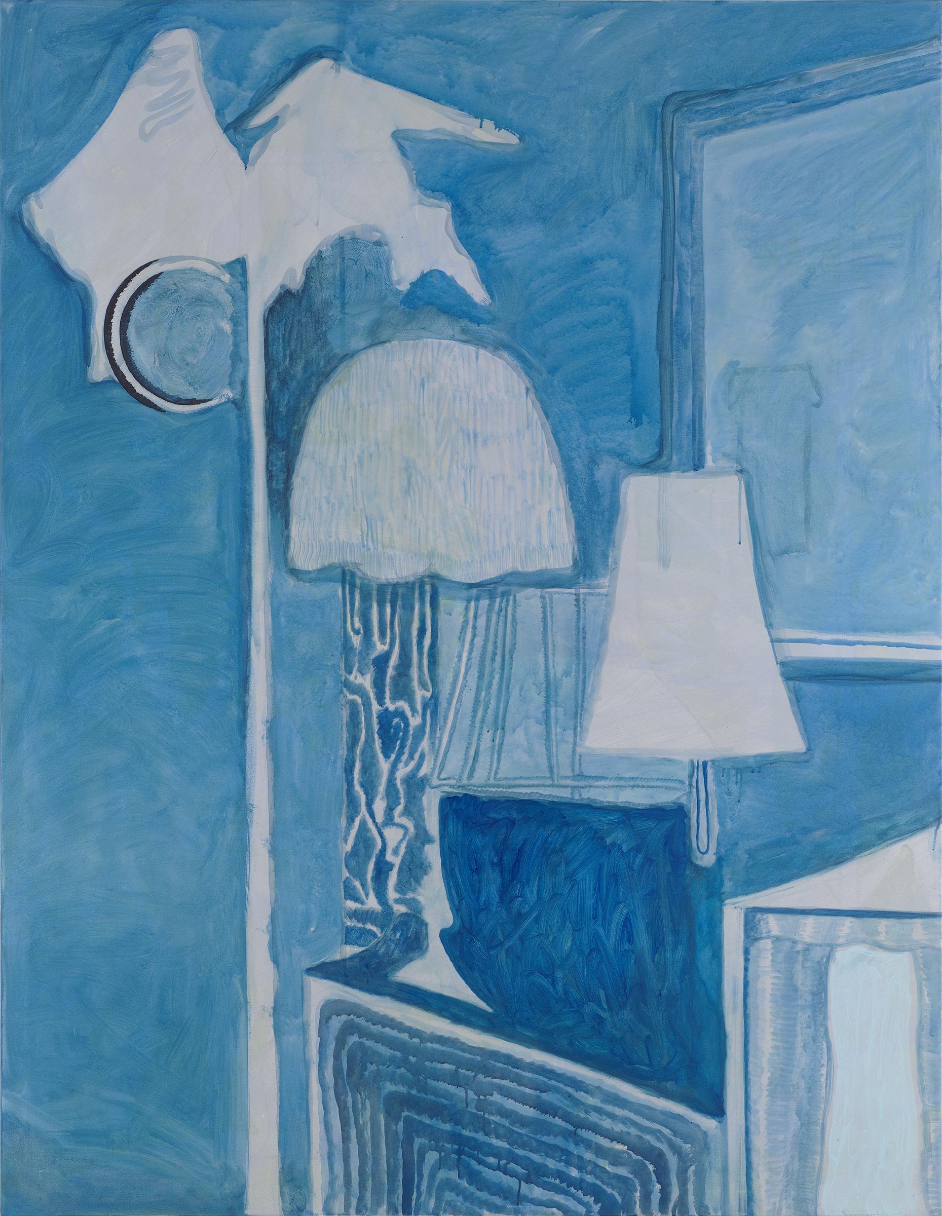 "CHRISTOPH ROßNER   Piano Nights , 2015, acrylic on canvas, 78.75"" x 61"""