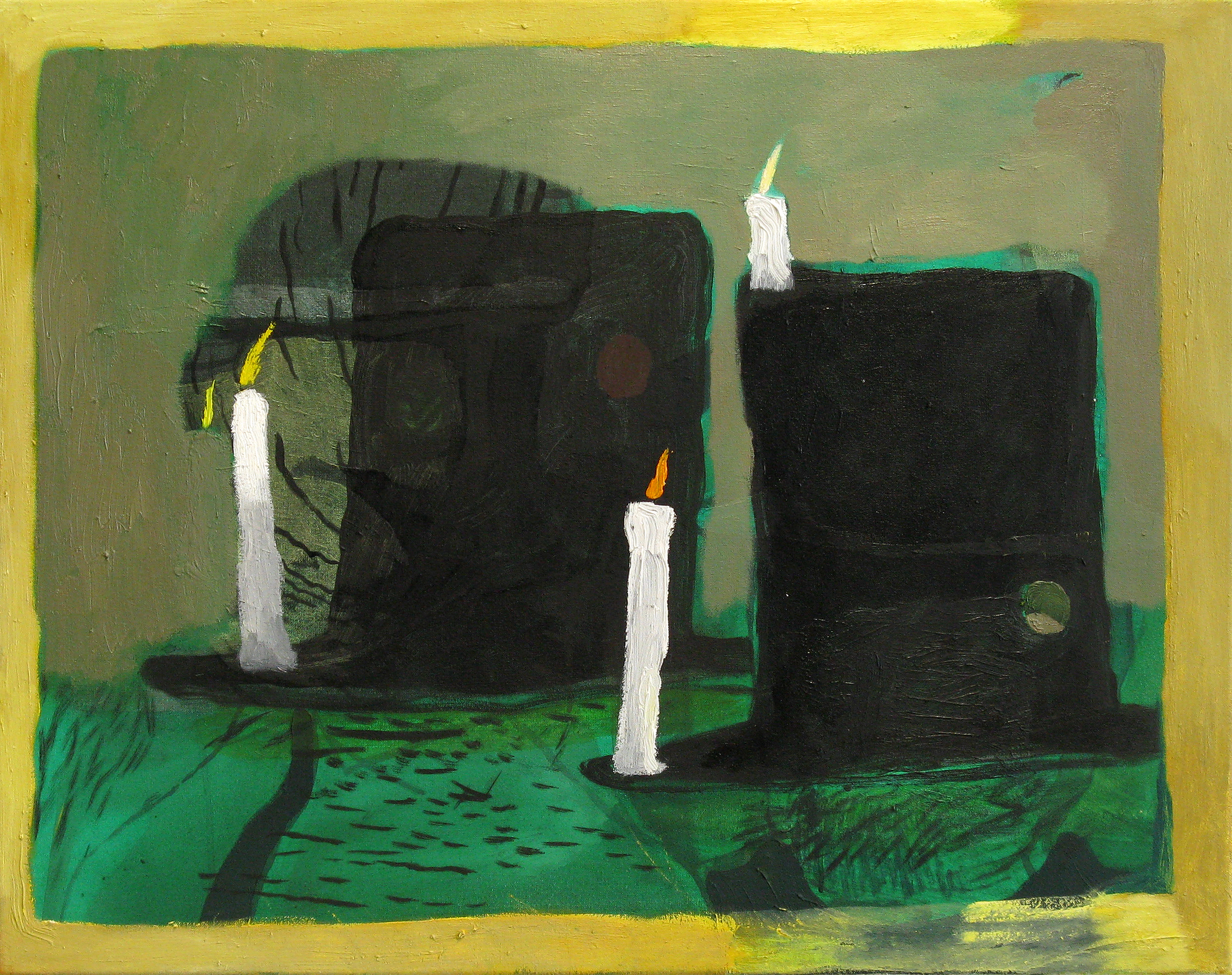 """CHRISTOPH ROßNER   Old Hut, oil and acrylic on canvas, 21.5"""" x 27.5"""", 2010"""
