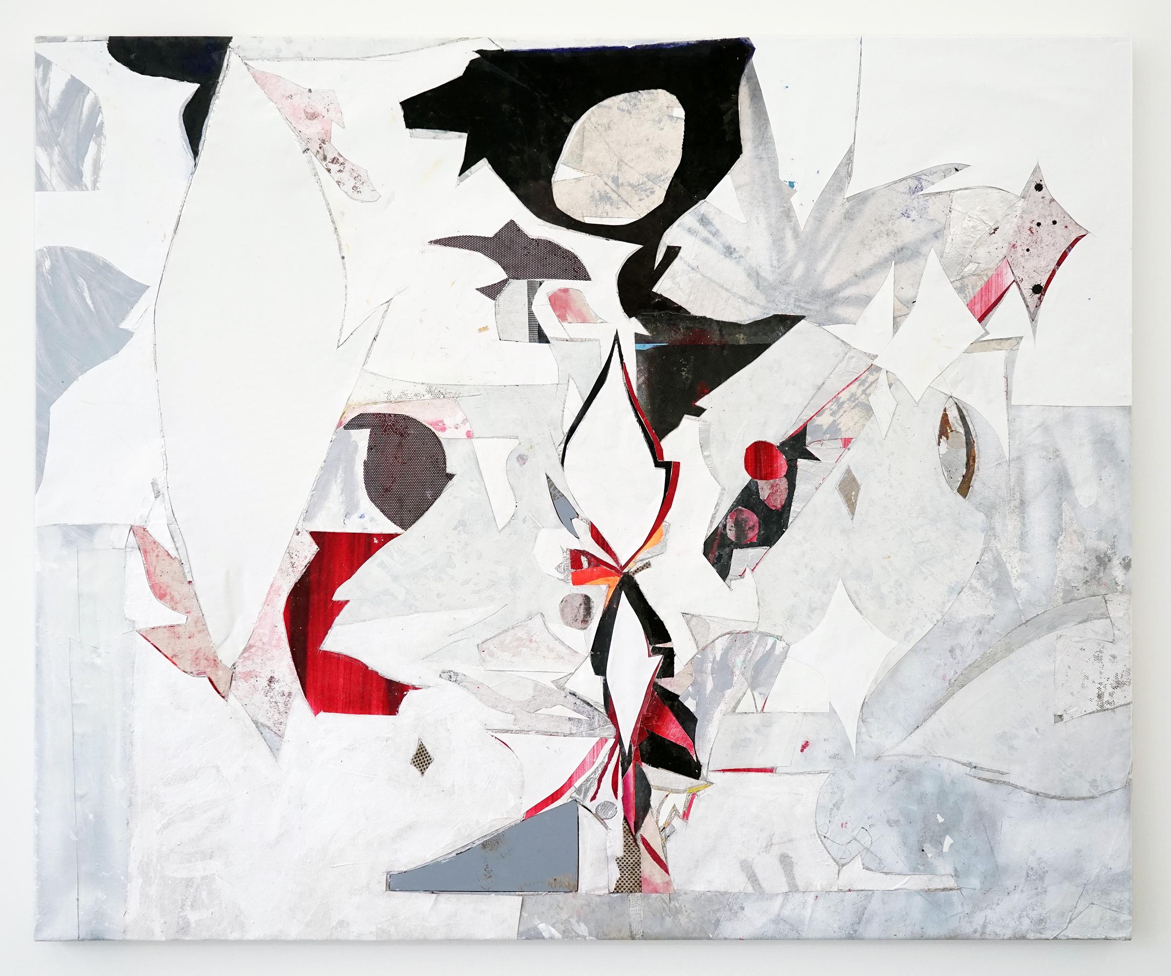 """RYAN WALLACE   Lenakaeia 3 , enamel, acrylic, canvas, linen, aluminum, fiberglass, 48"""" x 58"""", 2017"""