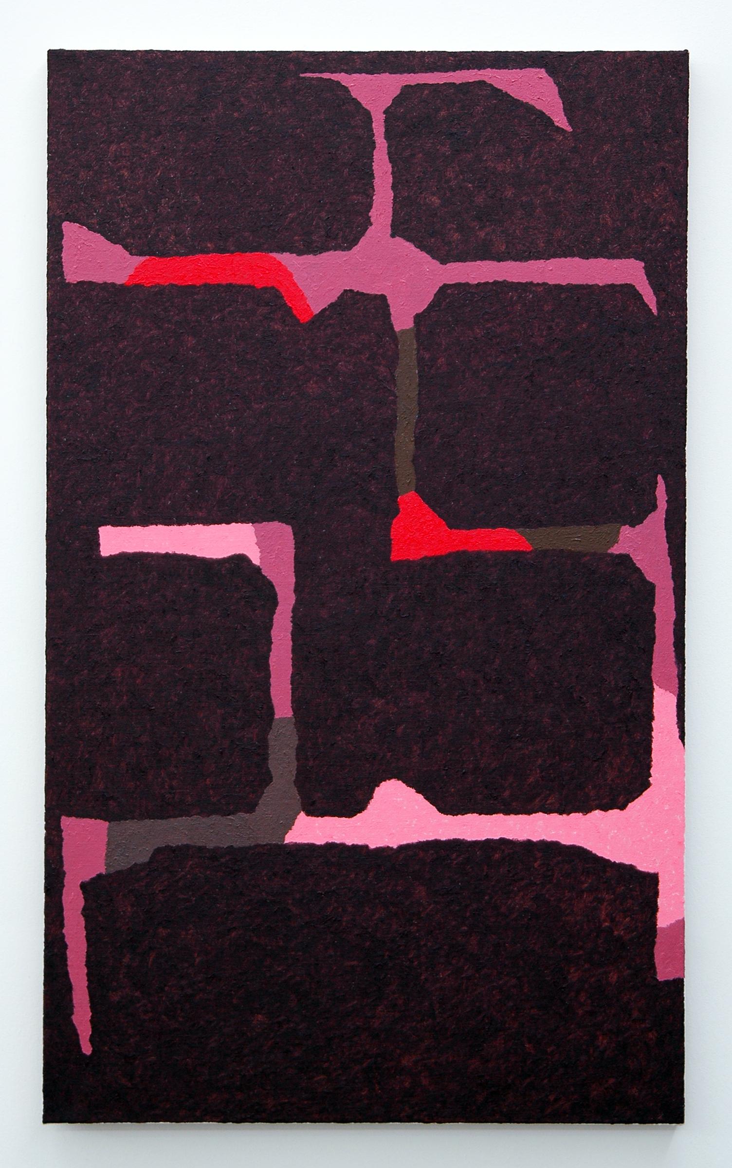 """/SLASH/  Burno Fazzolari, Dat Rosa (BFP214), oil on linen, 30"""" x 18"""", 2014"""