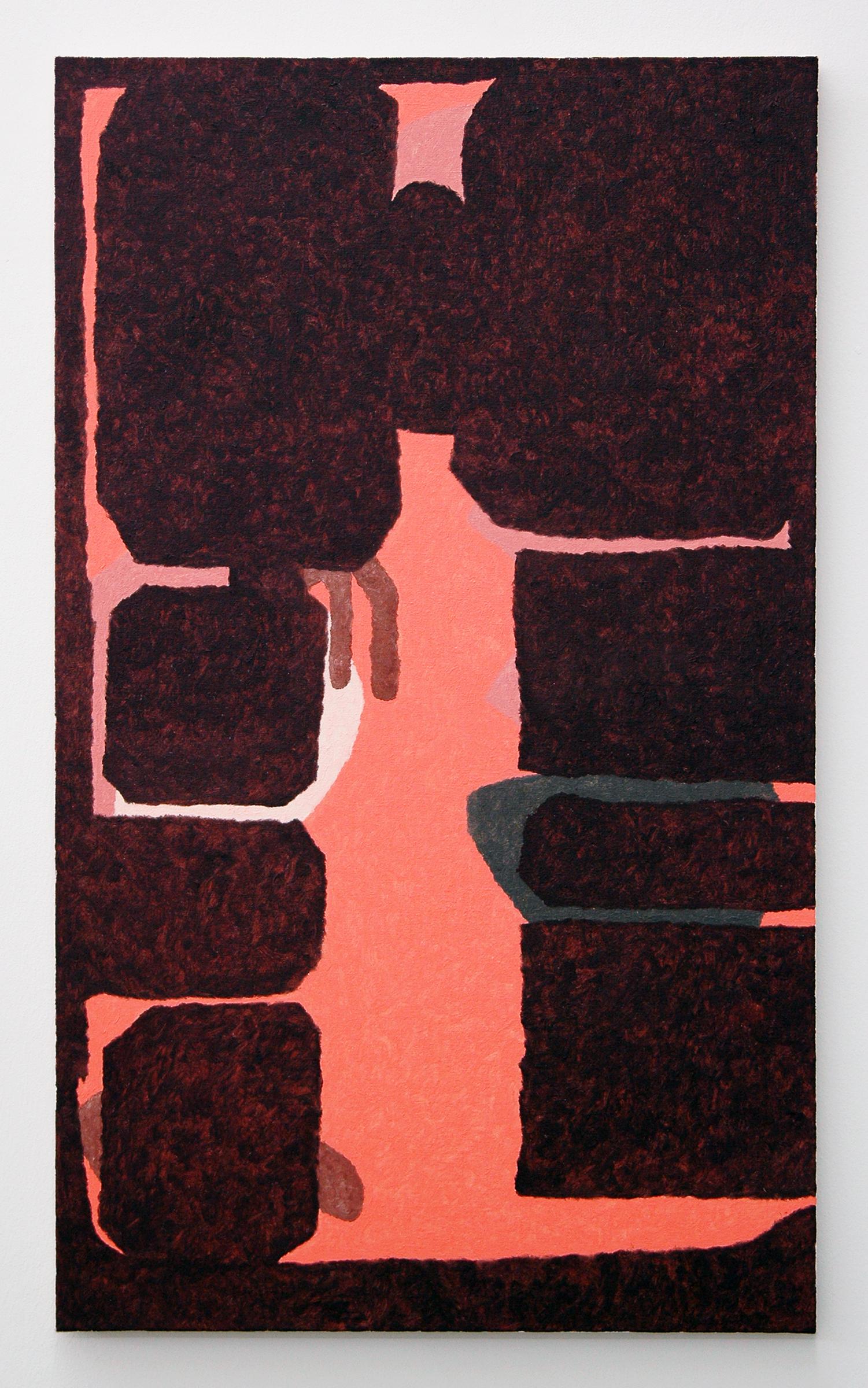 """/SLASH/  Burno Fazzolari, Dat Rosa (BFP216), oil on linen, 30"""" x 18"""", 2014"""
