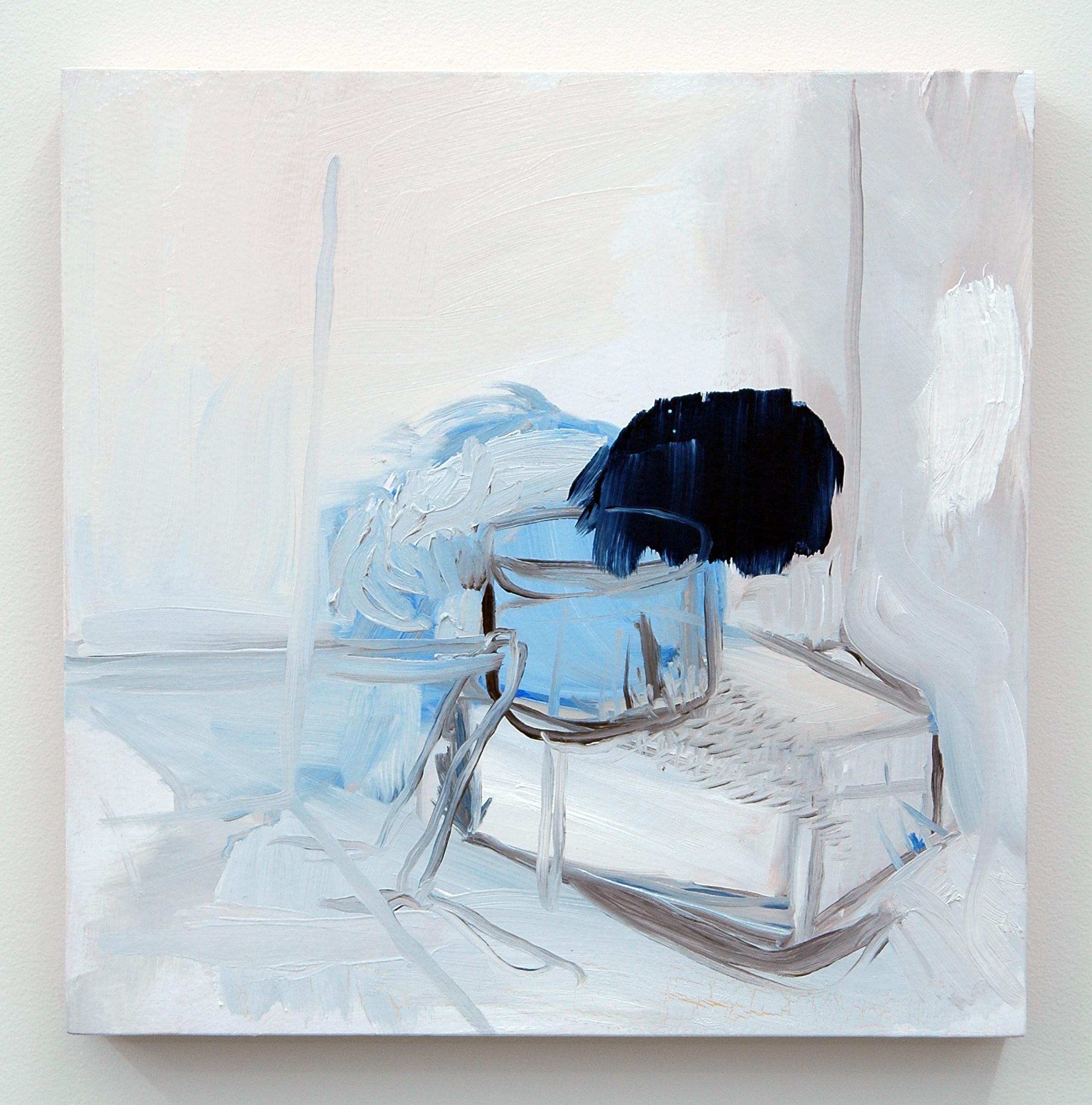 """/SLASH/  Jonn Herschend, Installation Proposal No. 1, oil on panel, 12"""" x 12"""", 2014"""