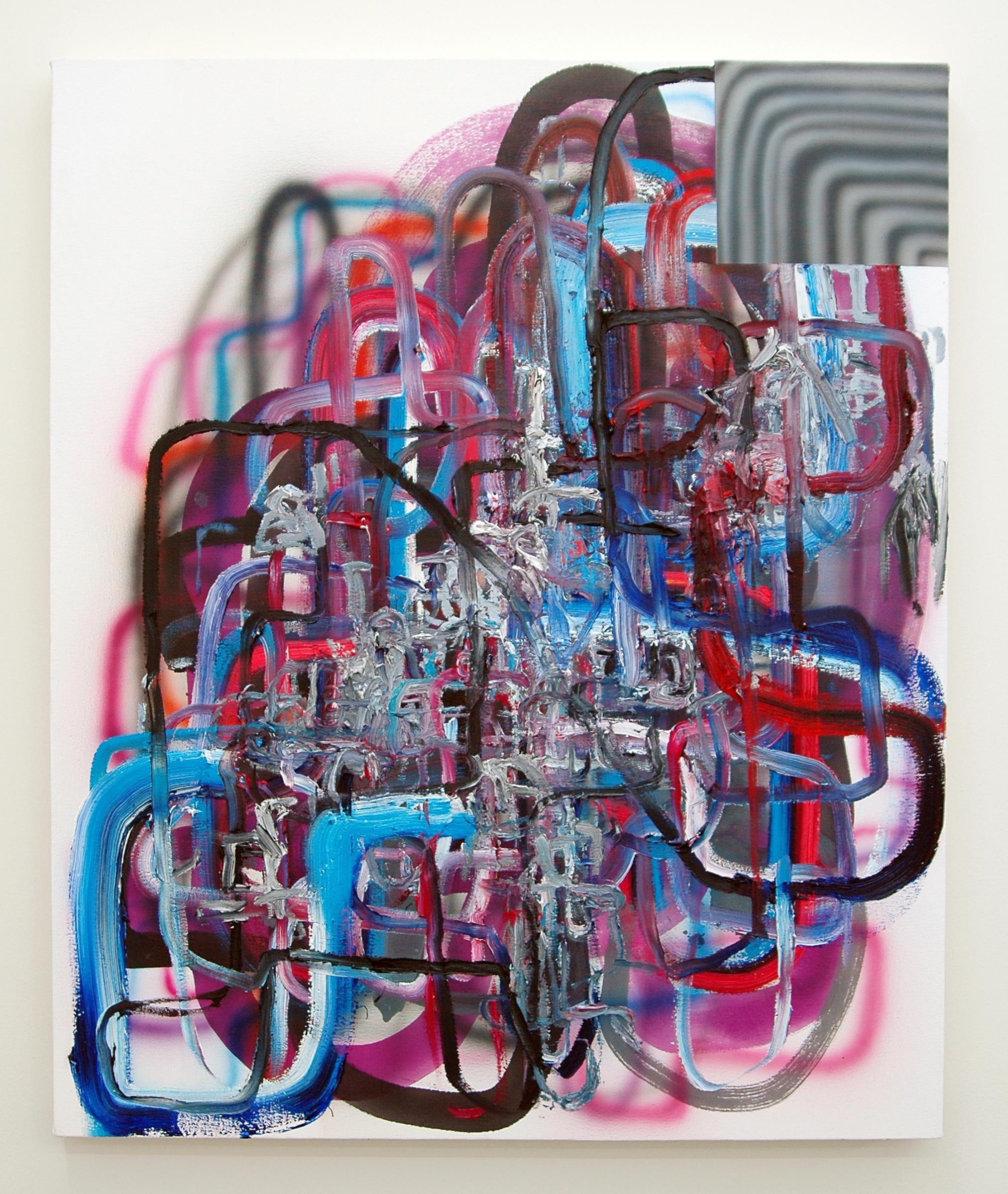 "/SLASH/  Josh Podoll, Broken Foot, oil and acrylic on canvas, 36"" x 30"", 2014"