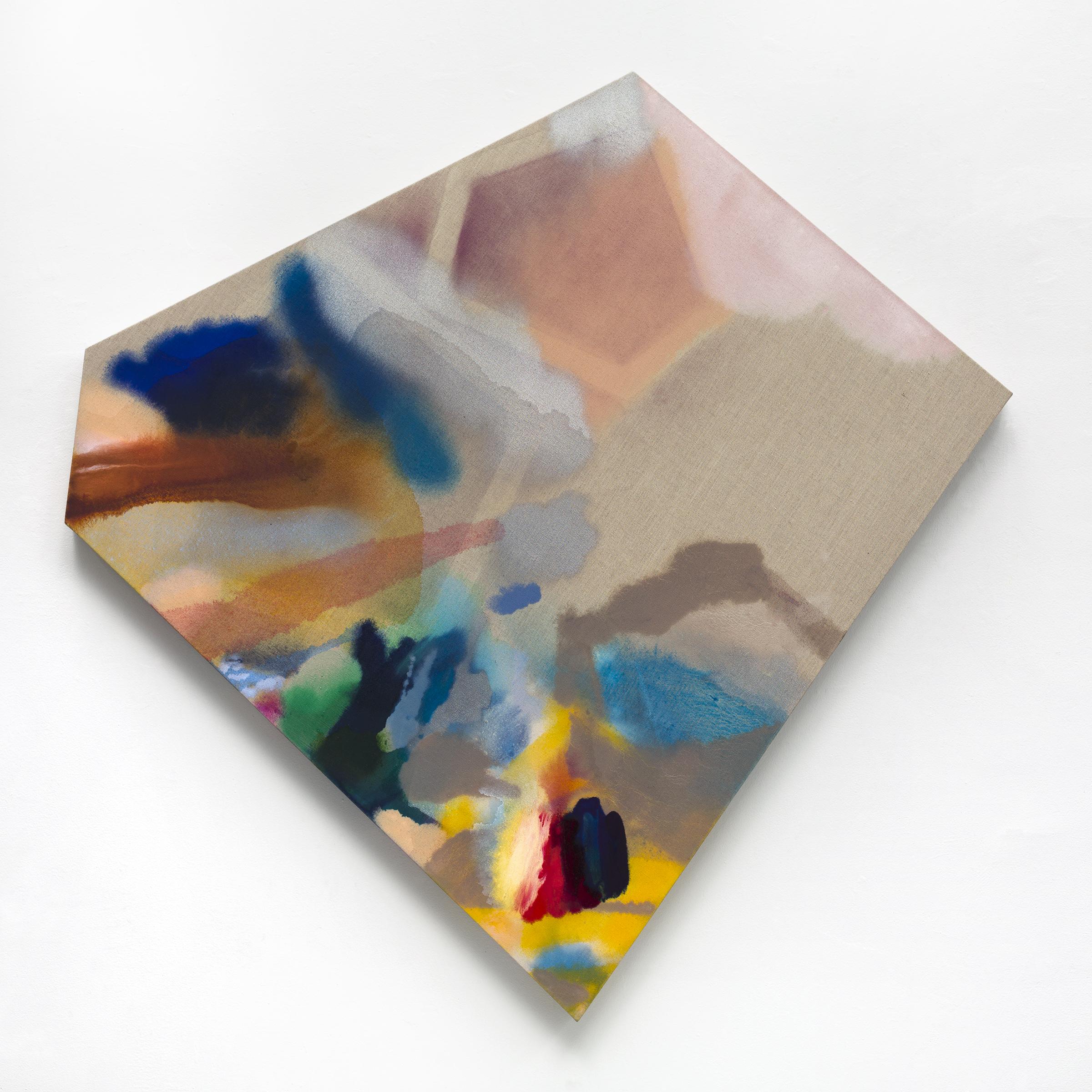 """PAMELA JORDEN Plum, 2018 Oil on linen, 52.5"""" x 52.5"""""""