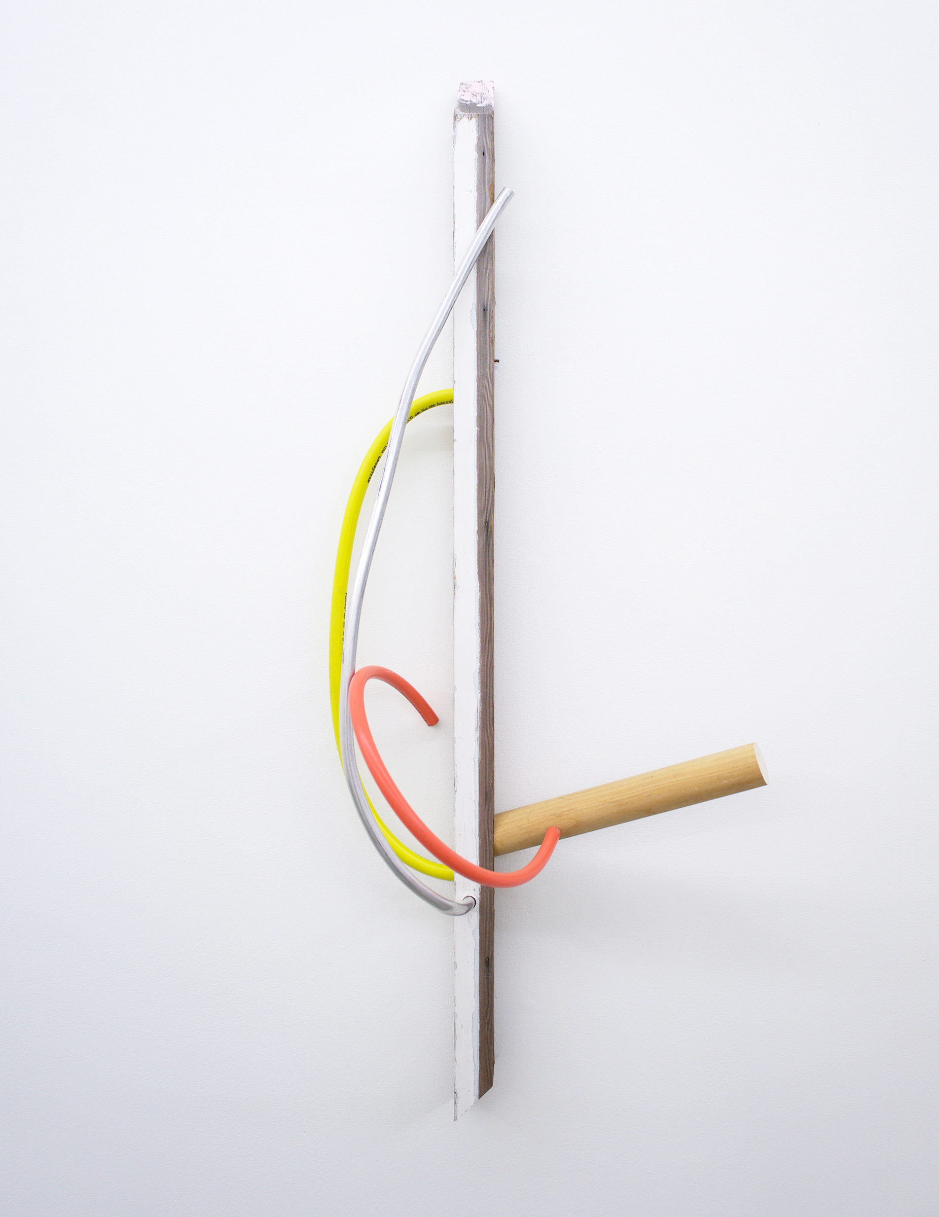 """KIRK STOLLER untitled (comb), 2018, wood, paper, stain, metal, 42"""" x 10"""" x 17"""""""