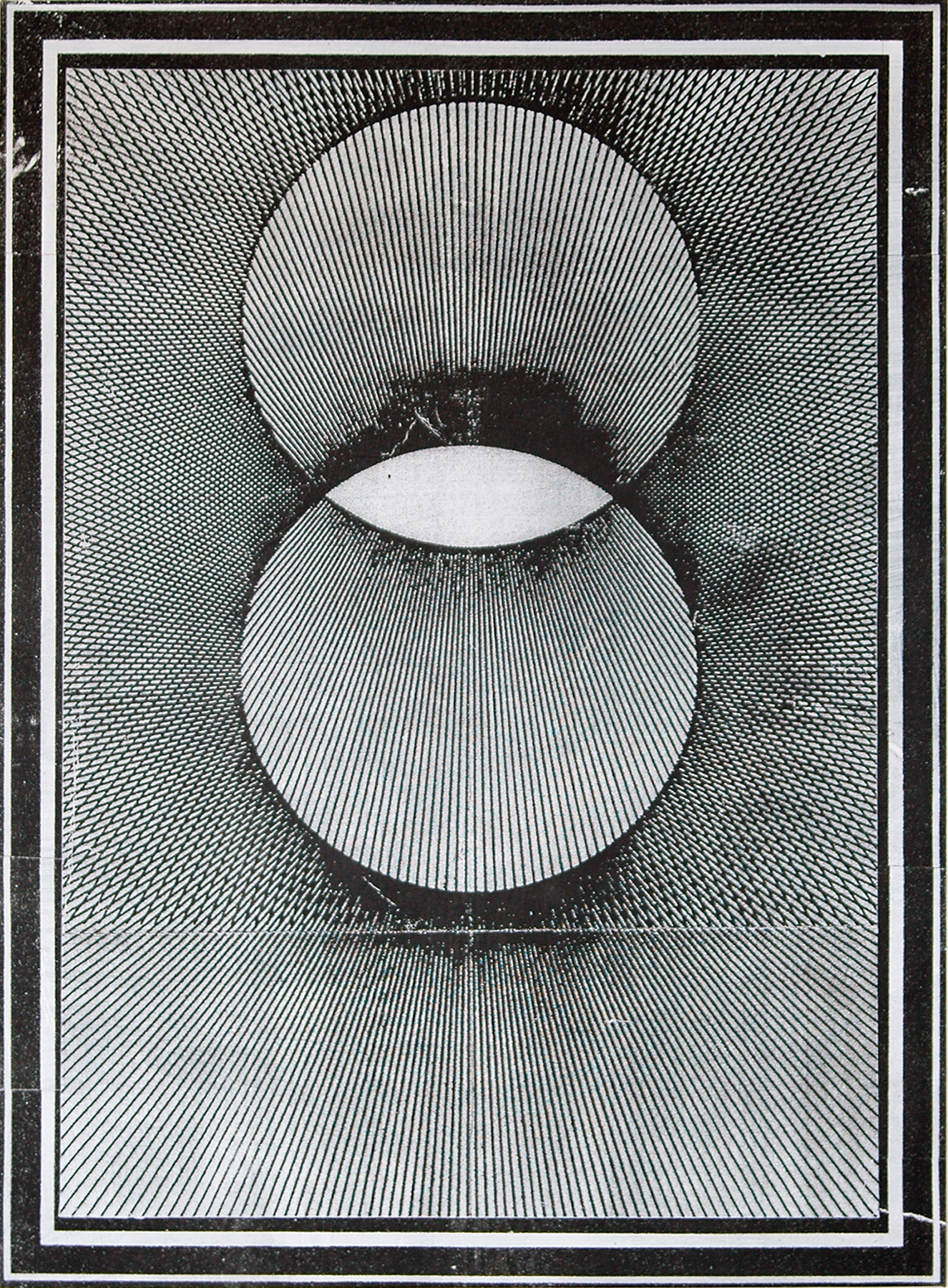 "GWENAËL RATTKE  Projections II (black & white) , 2012 acrylic and silkscreen on canvas, 48.25"" x 34.75"""