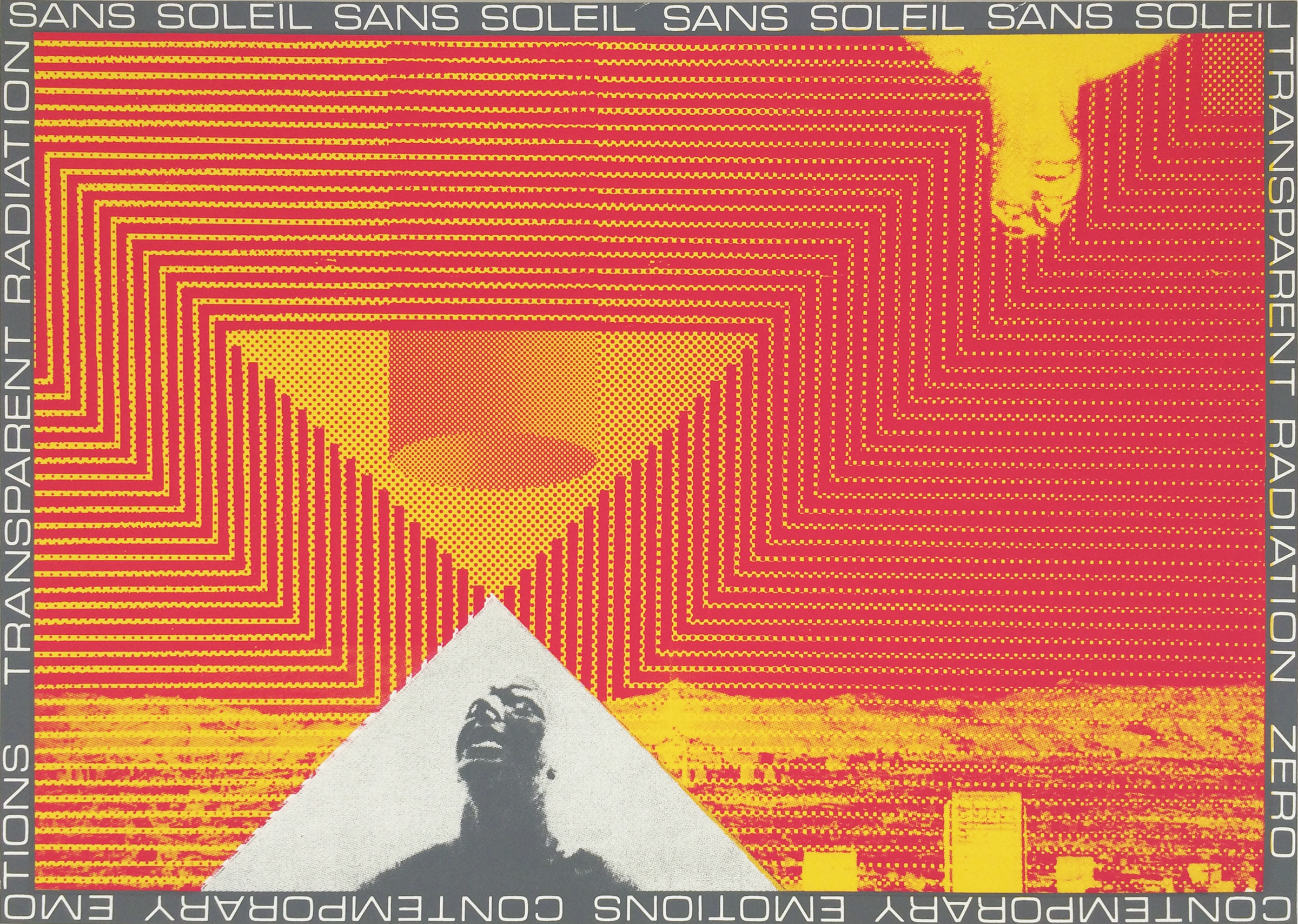 "GWENAËL RATTKE  Sans Soleil , 2012 unique silkscreen on paper, 19"" x 26.75"""