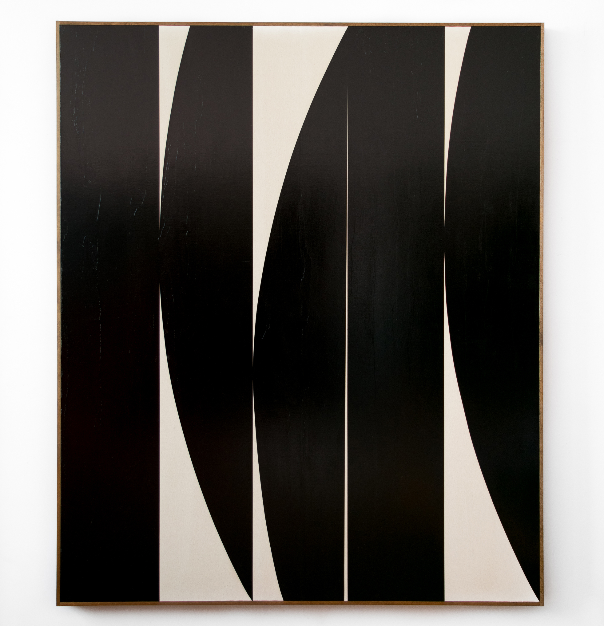 "JOHNNY ABRAHAMS Untitled, 2018 oil on canvas with artists frame, 72"" x 48"""