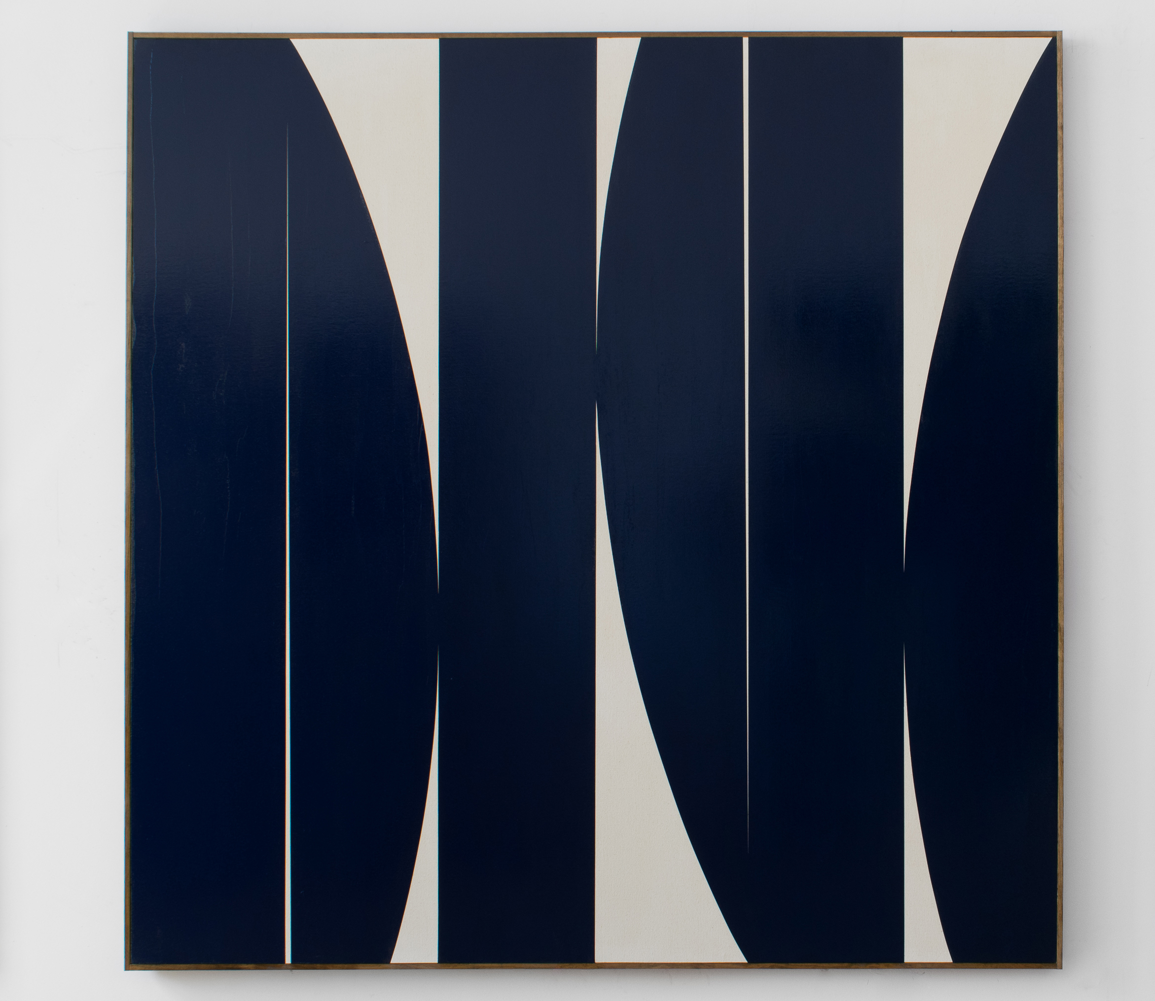 "JOHNNY ABRAHAMS Untitled, 2018 oil on canvas with artists frame, 72"" x 72"""