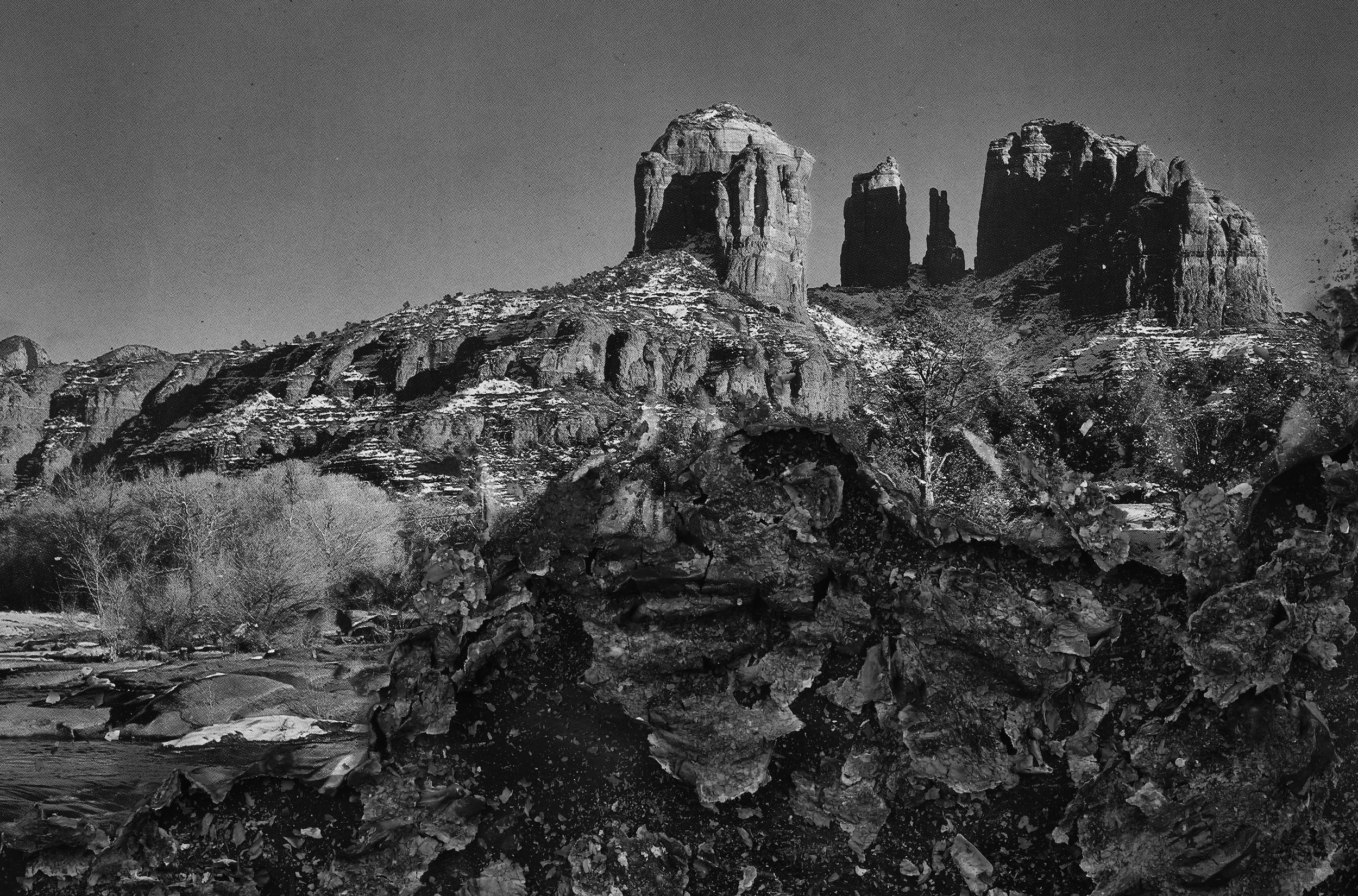 """BESSMA KHALAF  Burnout (Cathedral Rock) , 2019 Archival pigment print 33"""" x 50"""", Edition of 3 with 1AP"""