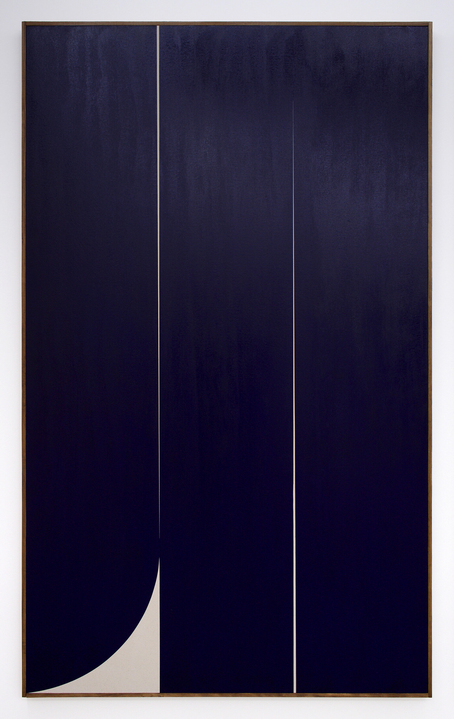"JOHNNY ABRAHAMS Untitled (Blue 1), 2019 oil on canvas, 80"" x 48"""