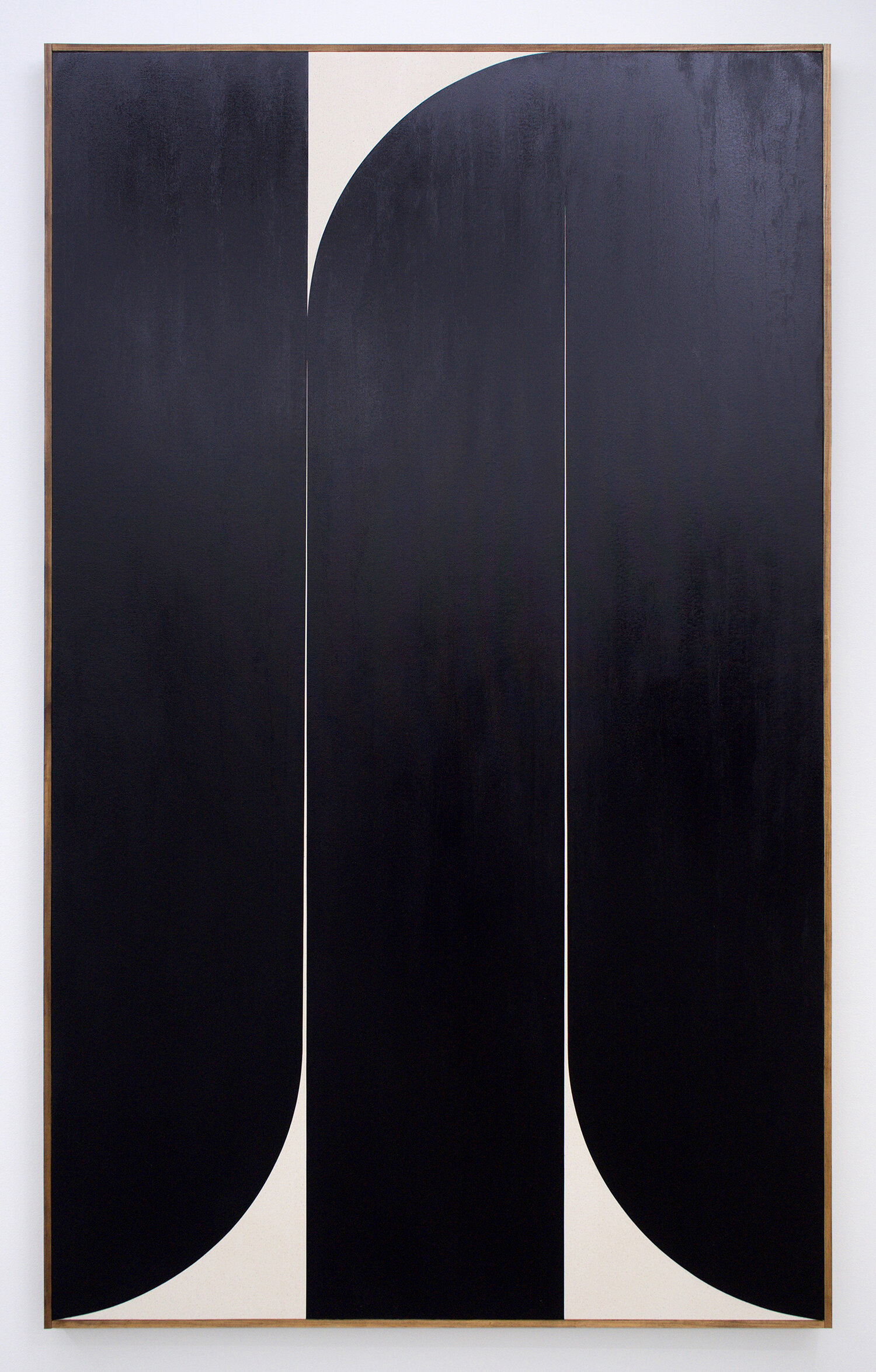 "JOHNNY ABRAHAMS Untitled (Black), 2019 oil on canvas, 80"" x 48"""
