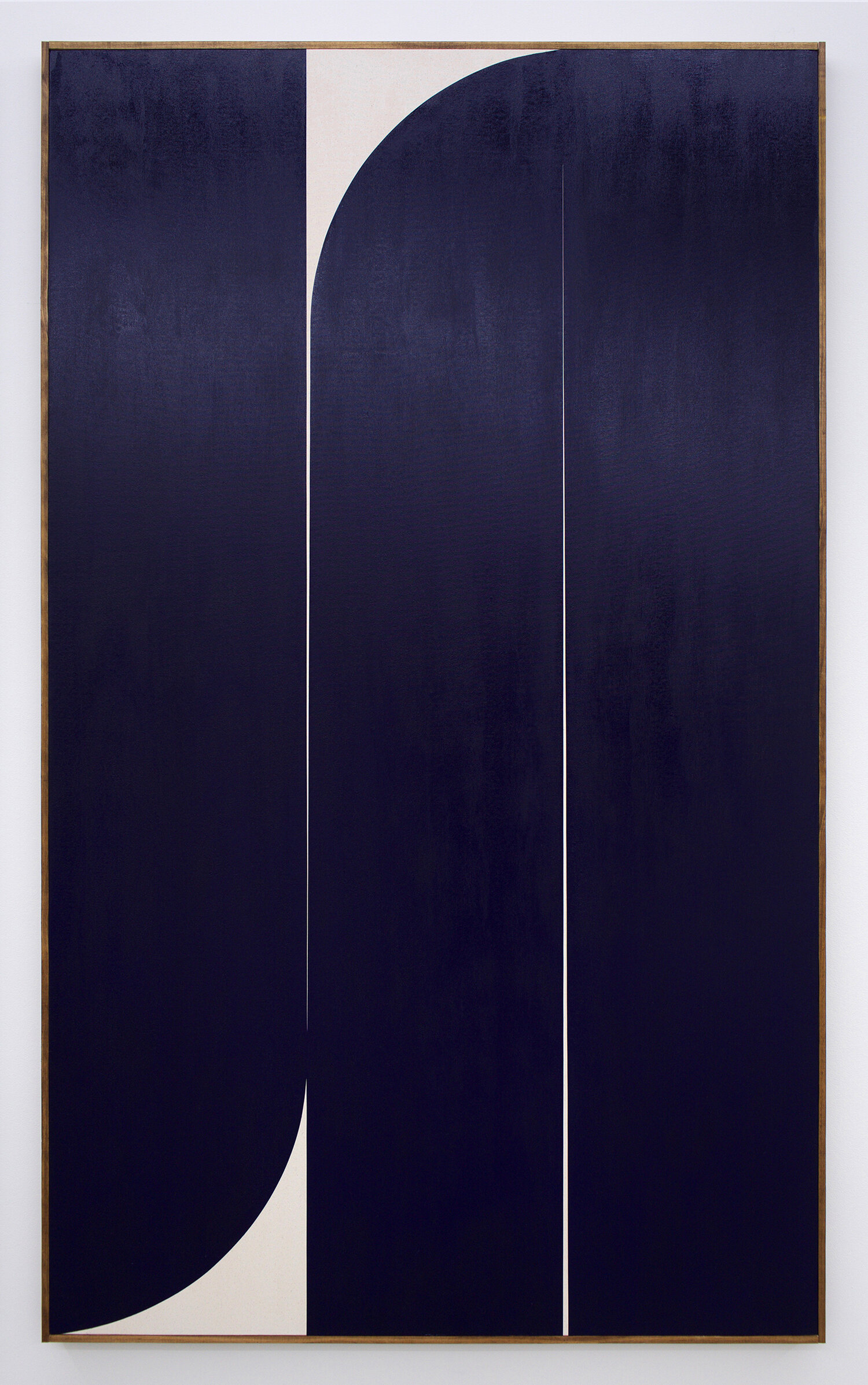 "JOHNNY ABRAHAMS Untitled (Blue 3), 2019 oil on canvas, 80"" x 48"""