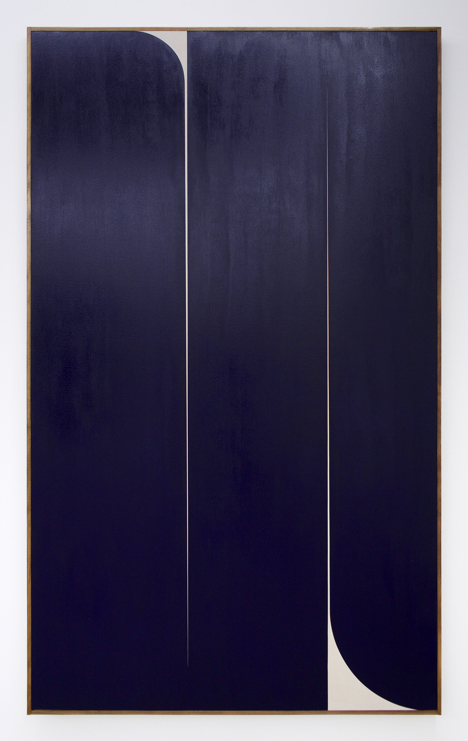 "JOHNNY ABRAHAMS Untitled (Blue 2), 2019 oil on canvas, 80"" x 48"""