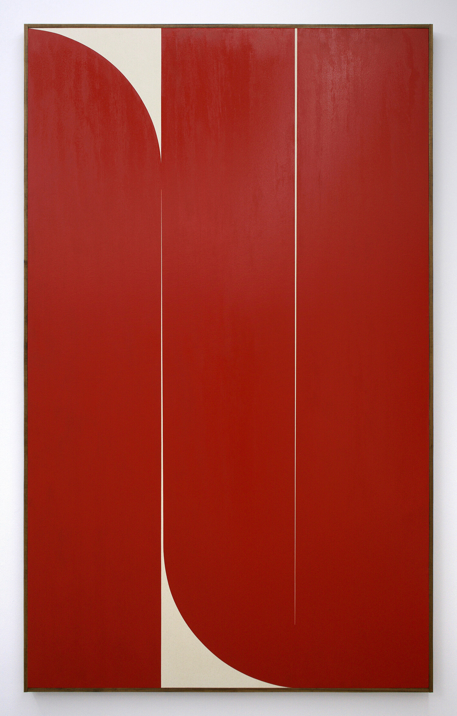 "JOHNNY ABRAHAMS Untitled (Red), 2019 oil on canvas, 80"" x 48"""