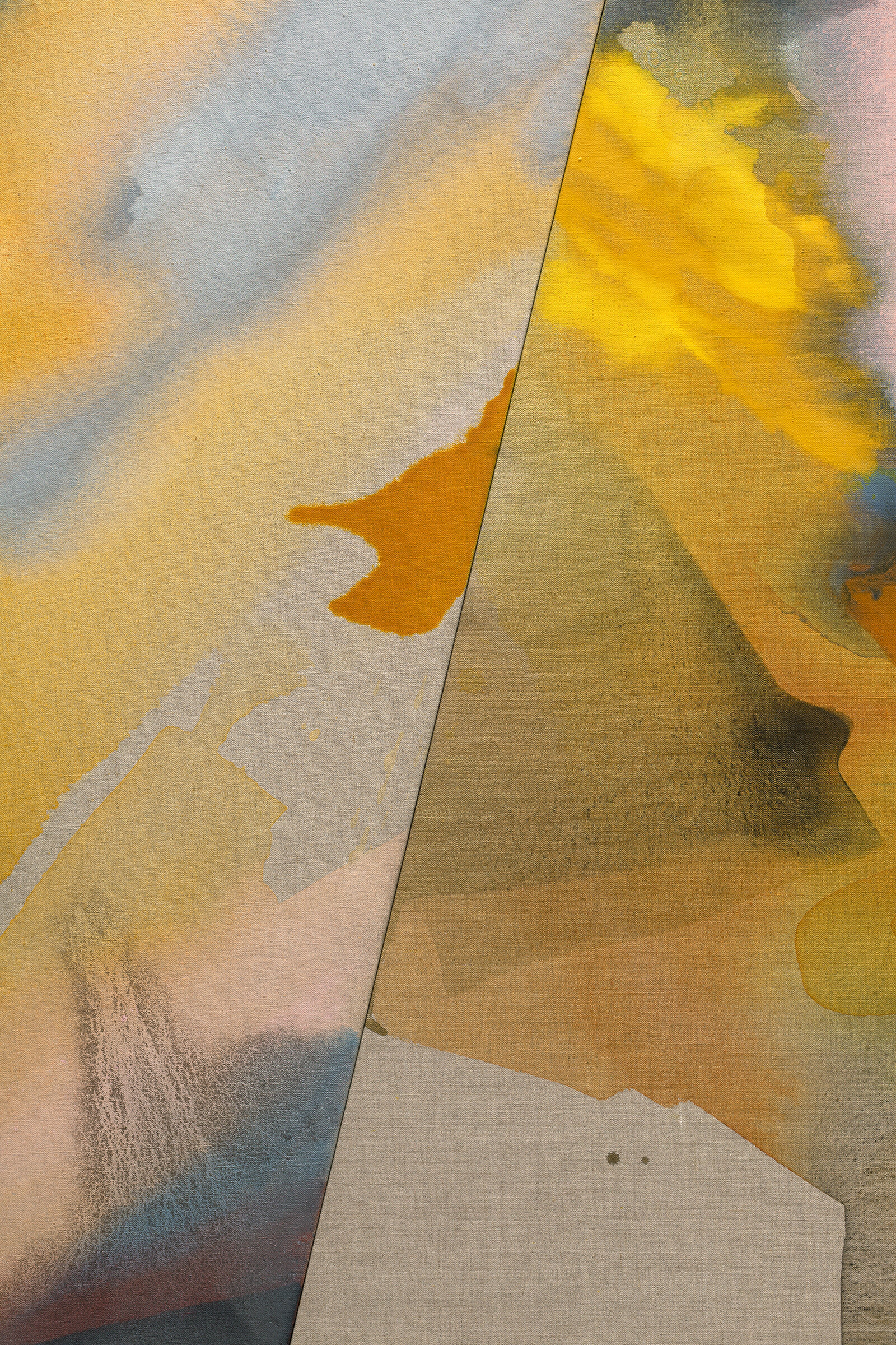 "PAMELA JORDEN (detail)  Falls , 2019 oil and acrylic on linen, 72.5"" x 66"""