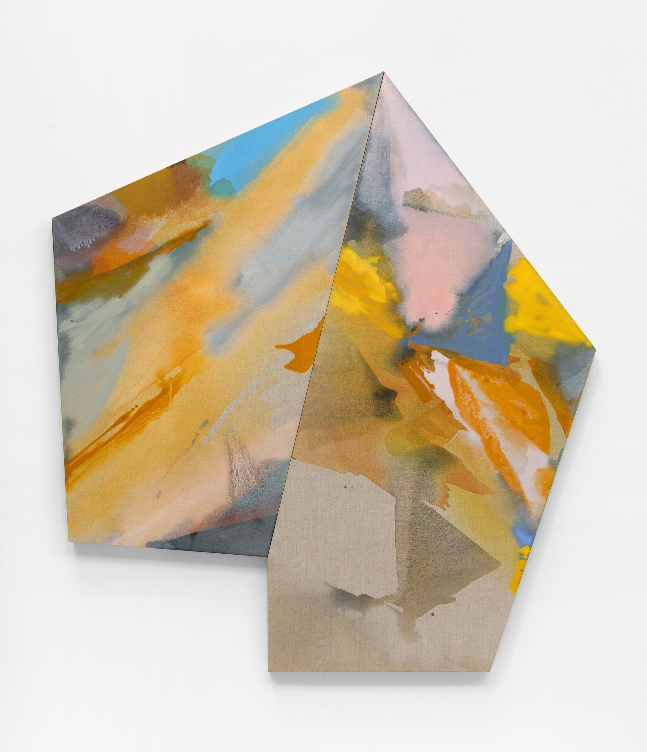 "PAMELA JORDEN  Falls , 2019 oil and acrylic on linen, 72.5"" x 66"""