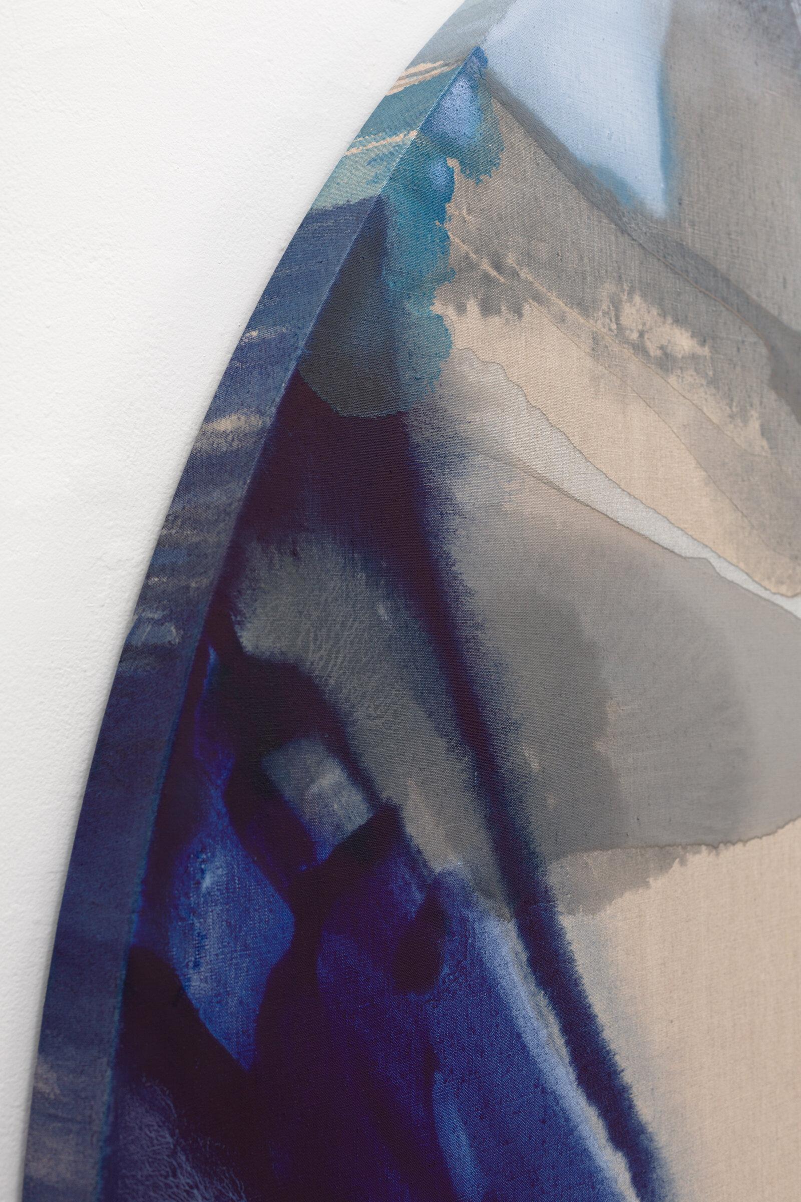 """PAMELA JORDEN (detail)  Lune , 2019 oil and acrylic on linen, 72"""" x 66"""""""