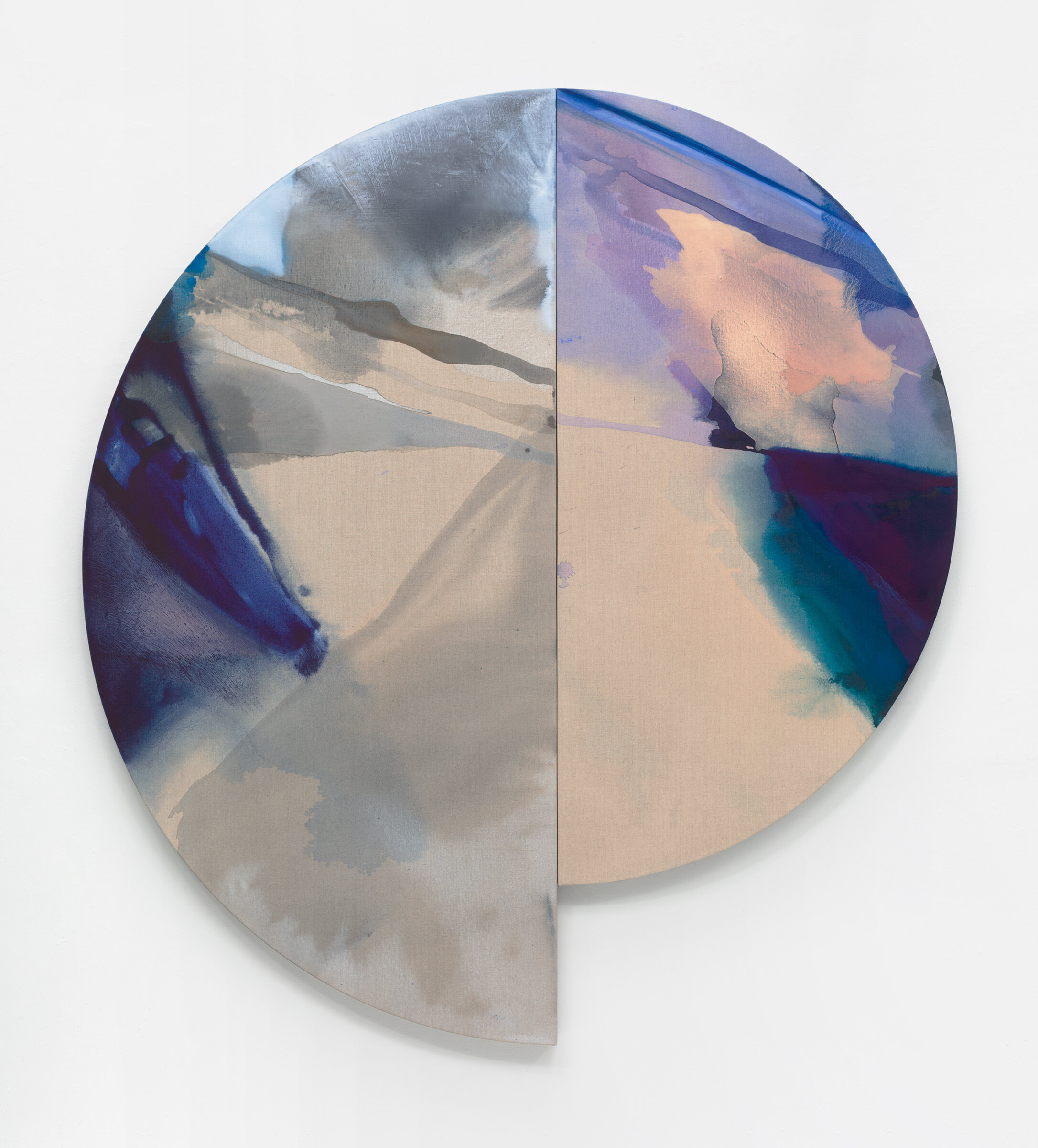 "PAMELA JORDEN  Lune , 2019 oil and acrylic on linen, 72"" x 66"""
