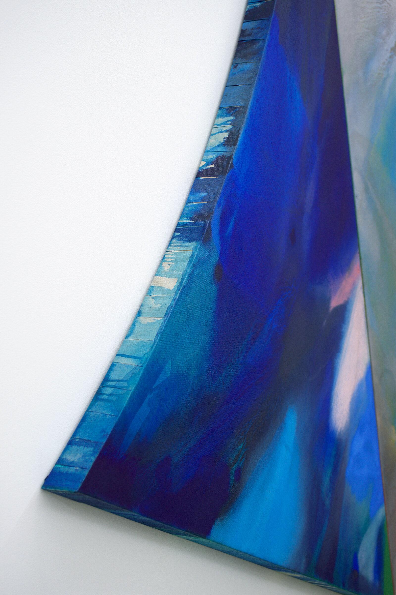 "PAMELA JORDEN (detail)  Silver Point , 2019 oil and acrylic on linen, 74"" x 61.25"""