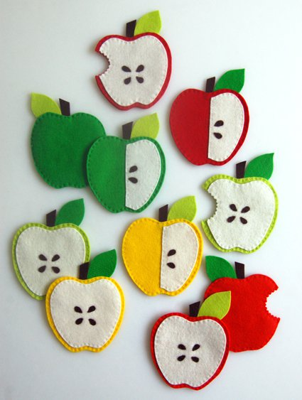 Apple Coasters for Purl Soho 2011