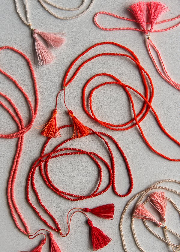 Beads + Tassels Necklaces for Purl Soho 2017