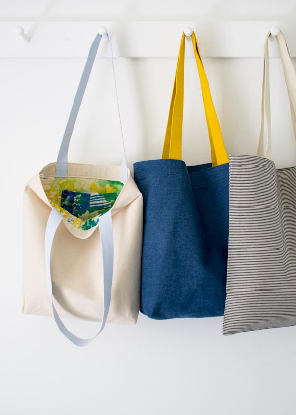 Easy. Easier, and Easiest Totes for Purl Soho 2015