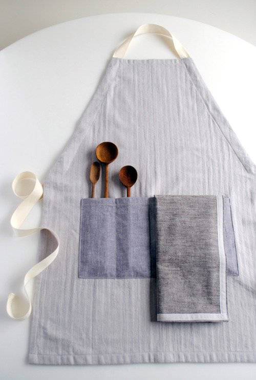 Adjustable Apron and Simple Dishtowels for Purl Soho 2012