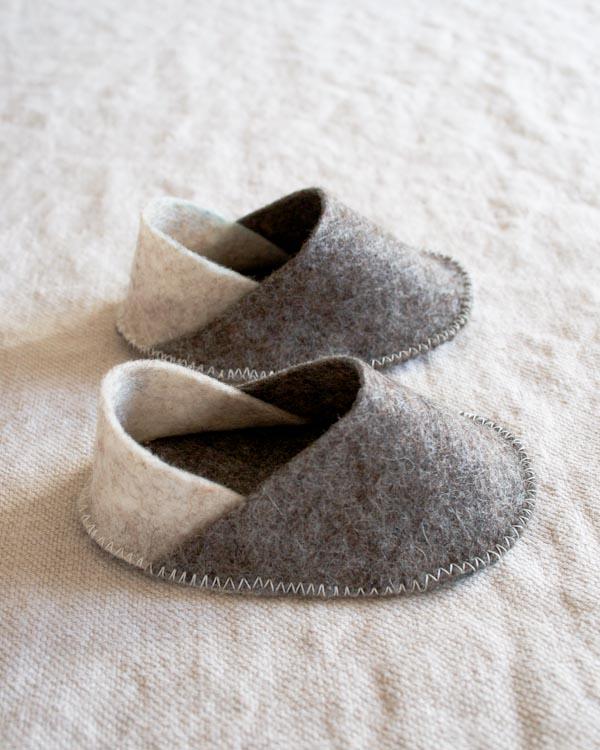 Felt Baby Slippers for Purl Soho 2015