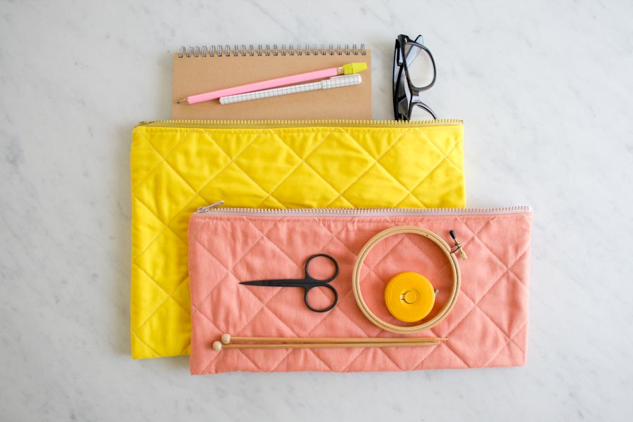 Quilted Zipper Pouches for Purl Soho 2015