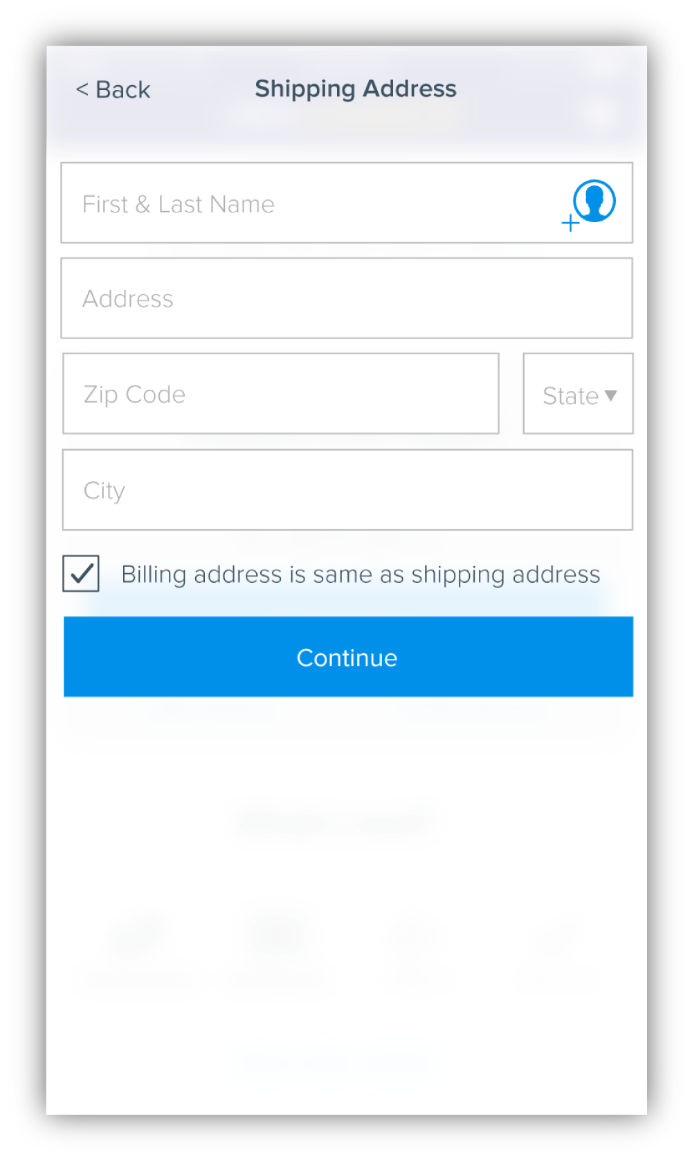 Asking for the user's zip code before state or city takes advantage of a feature that is able to automatically populate the city and state based on the zip code. This allows the user to skip 2 form fields, thus moving them through the flow much faster.