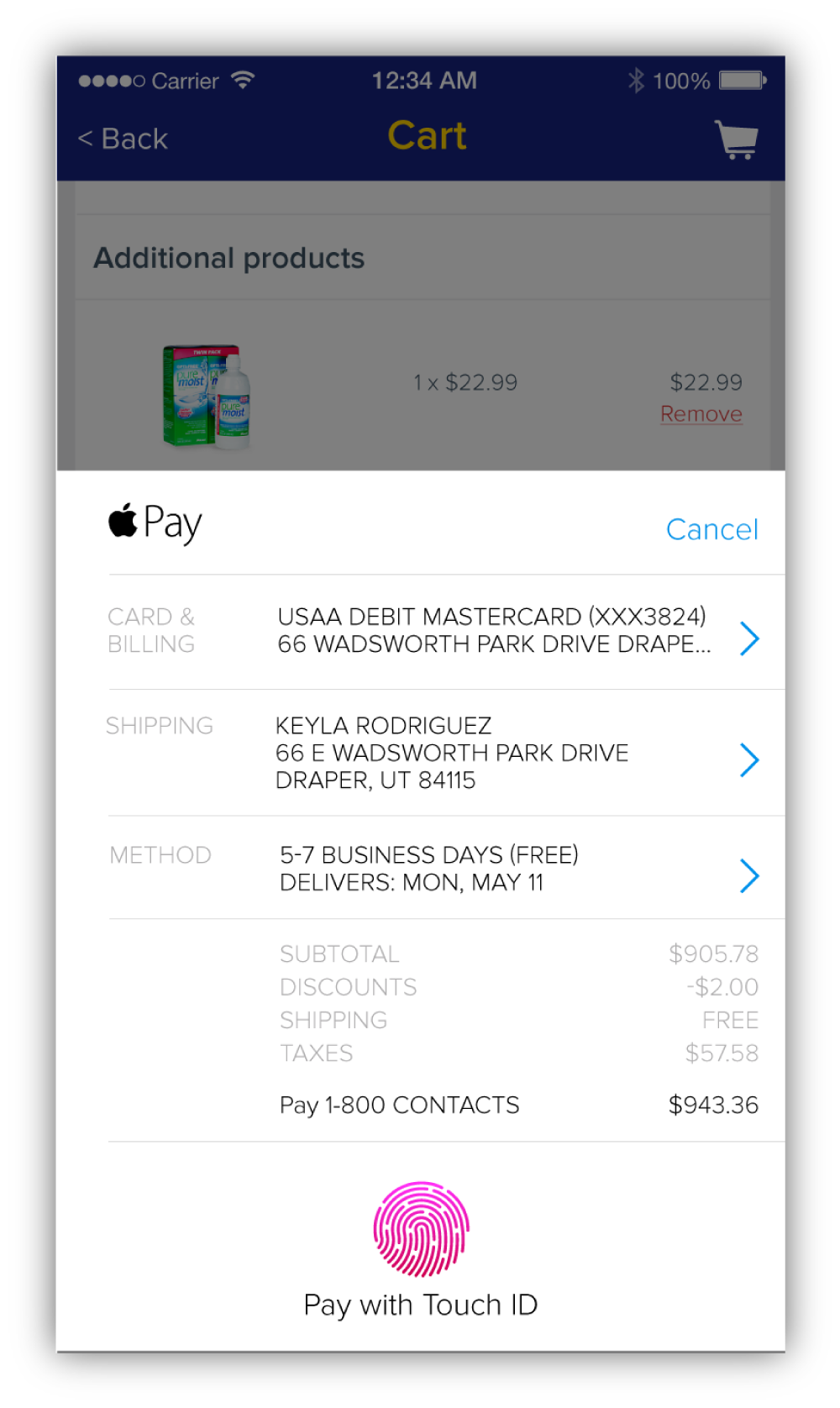 Apple Pay was added for iOS users and Google Wallet was added for Android users.