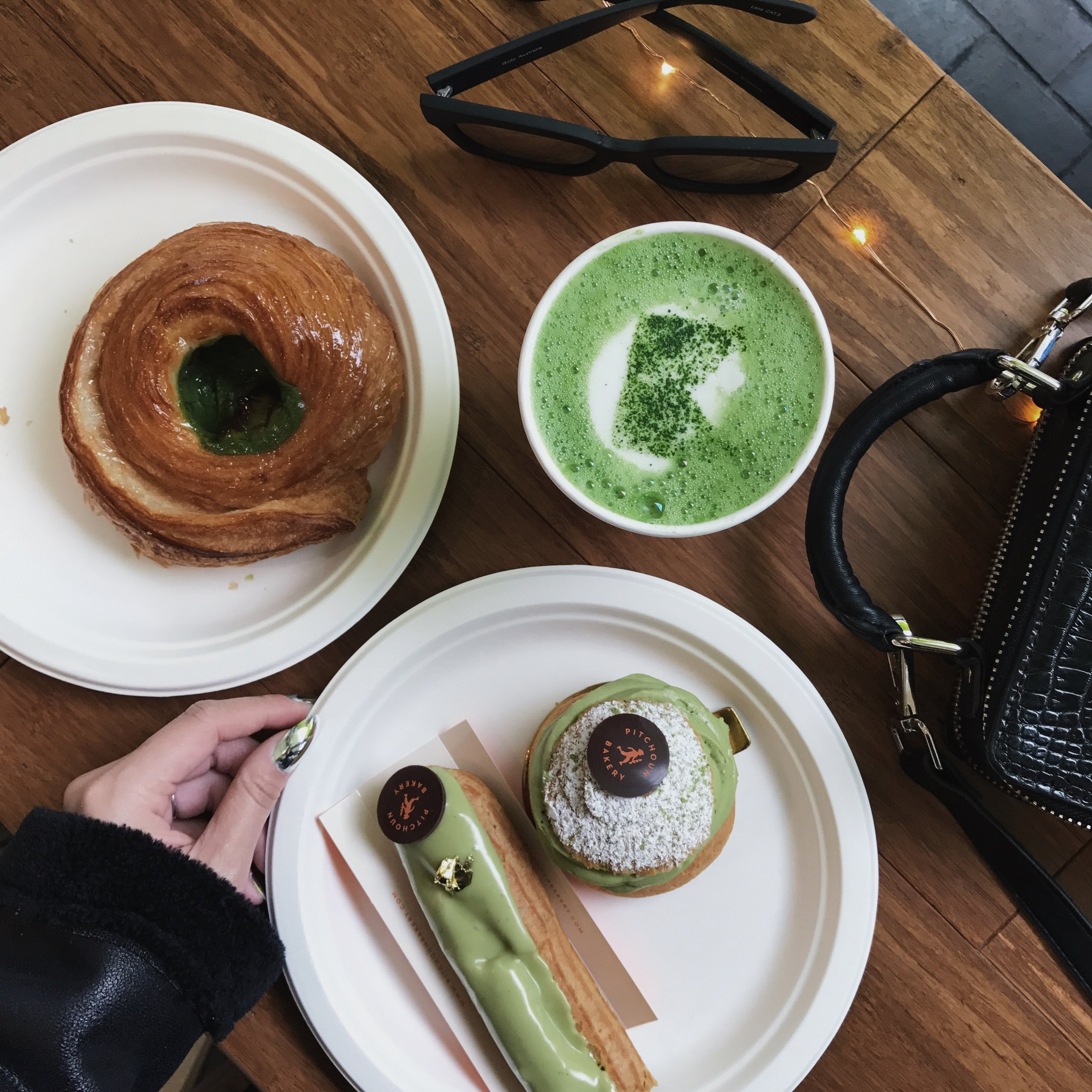 Matcha pastries exclusively for Midori Matcha by Pitchoun Bakery.