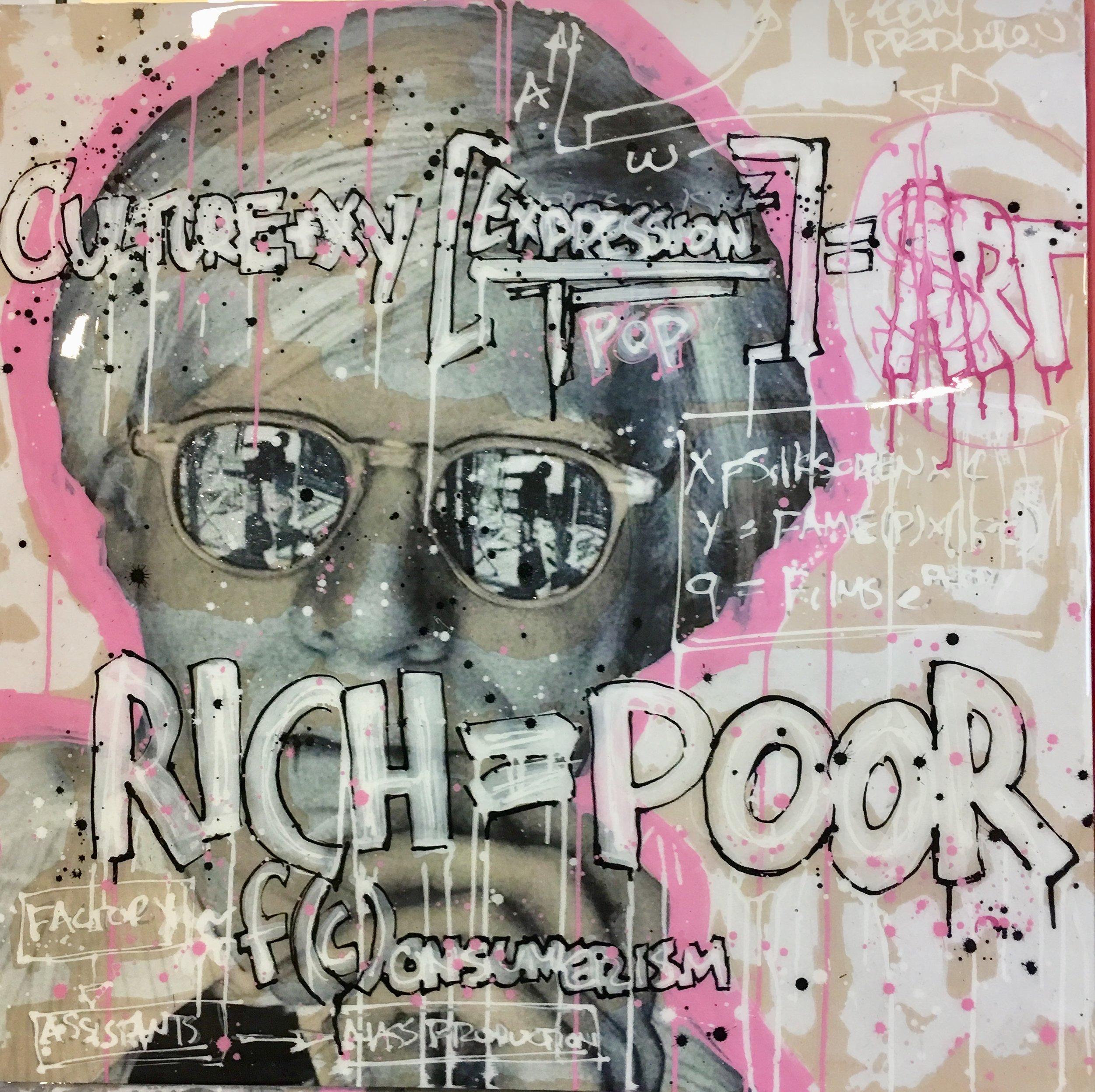 SOLD | Poor = Rich | Andy Warhol | 36 x 36