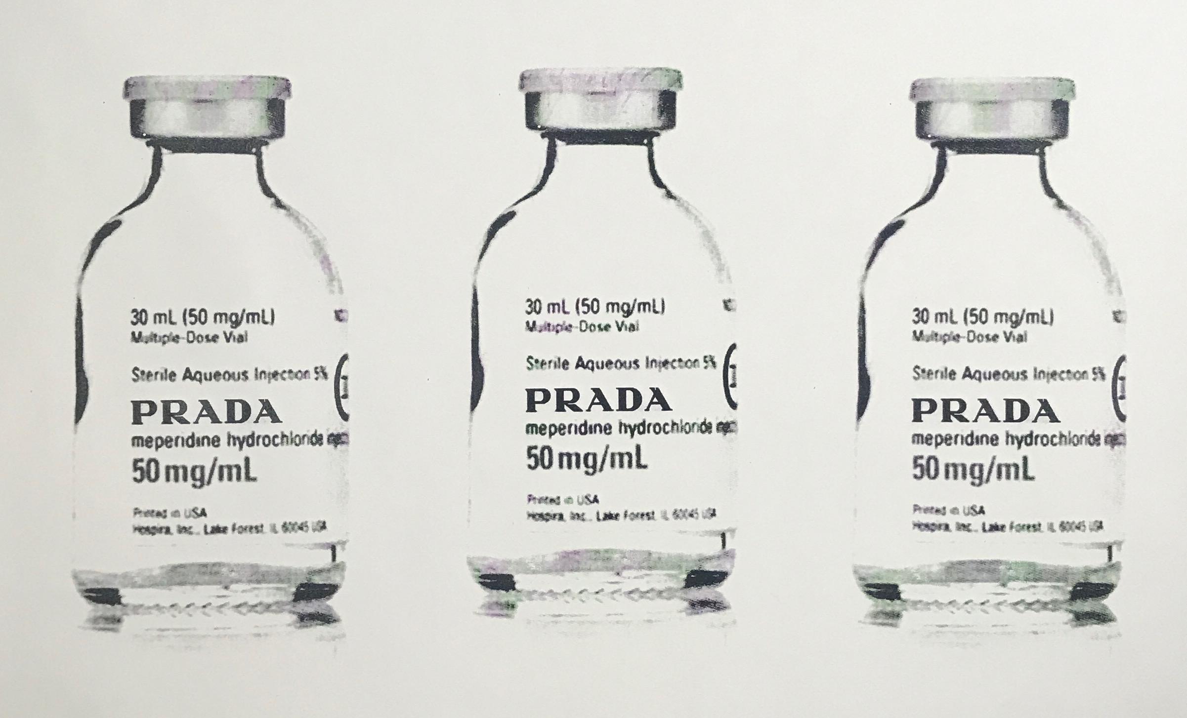 150 mg of prada 1/1 - 50 x 28 Acrylic on Canvas, Jul '17Buyer Inquiry